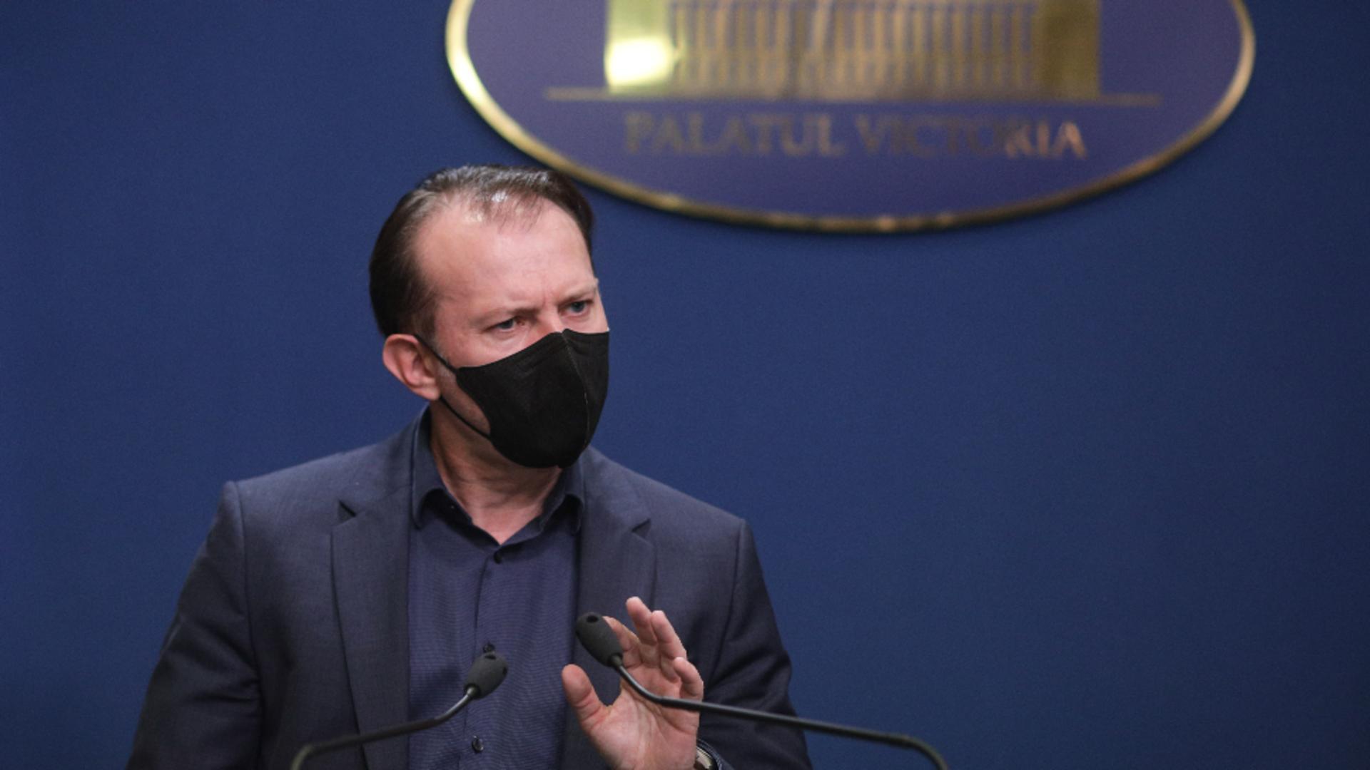Florin Cîțu acuză PSD că nu se implică în campania de vaccinare Foto: INQUAM