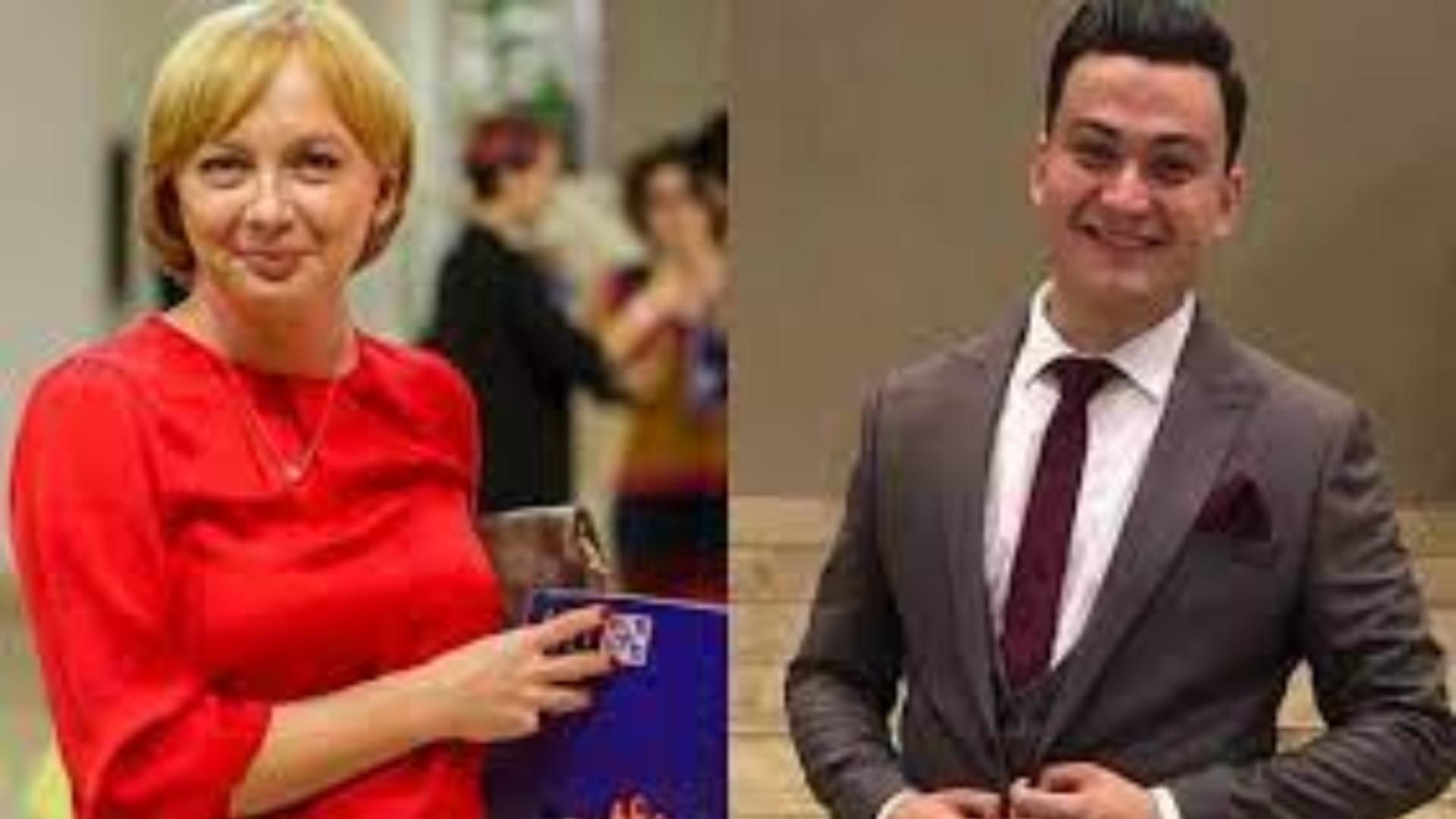 Jurnalista Emilia Șercan si cel care a amenințat-o, polițistul Aurelian Bărbulescu