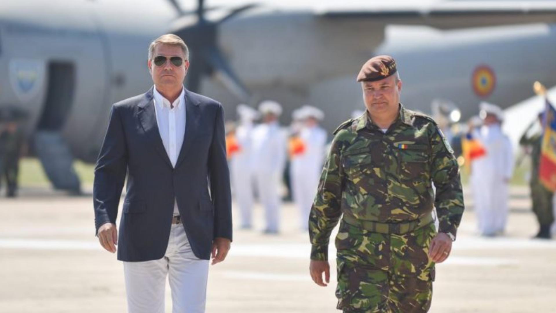 Klaus Iohannis pe baza militara M. Kogălniceanu