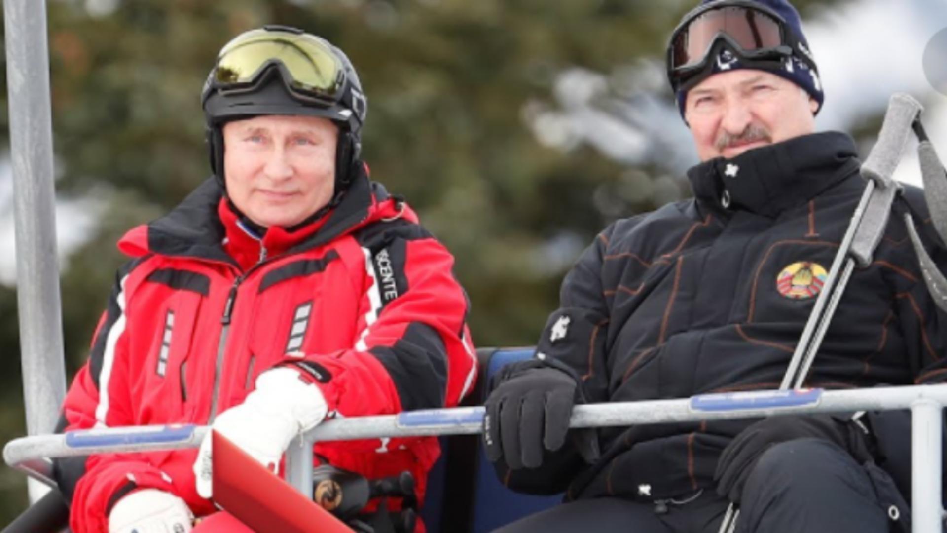 Vladimir Putin și Aleksandr Lukașenko