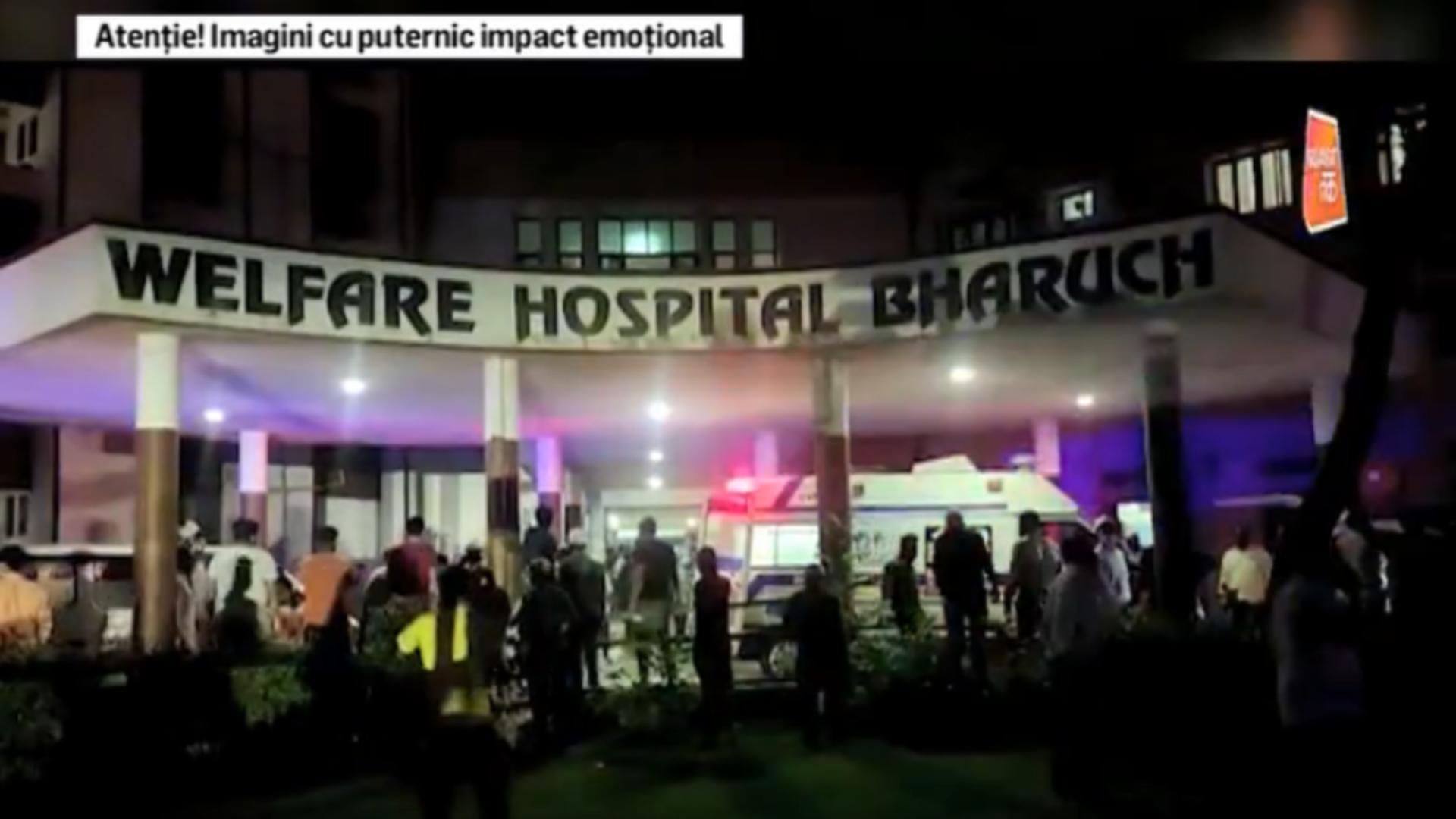 Incendiu spital Covid India