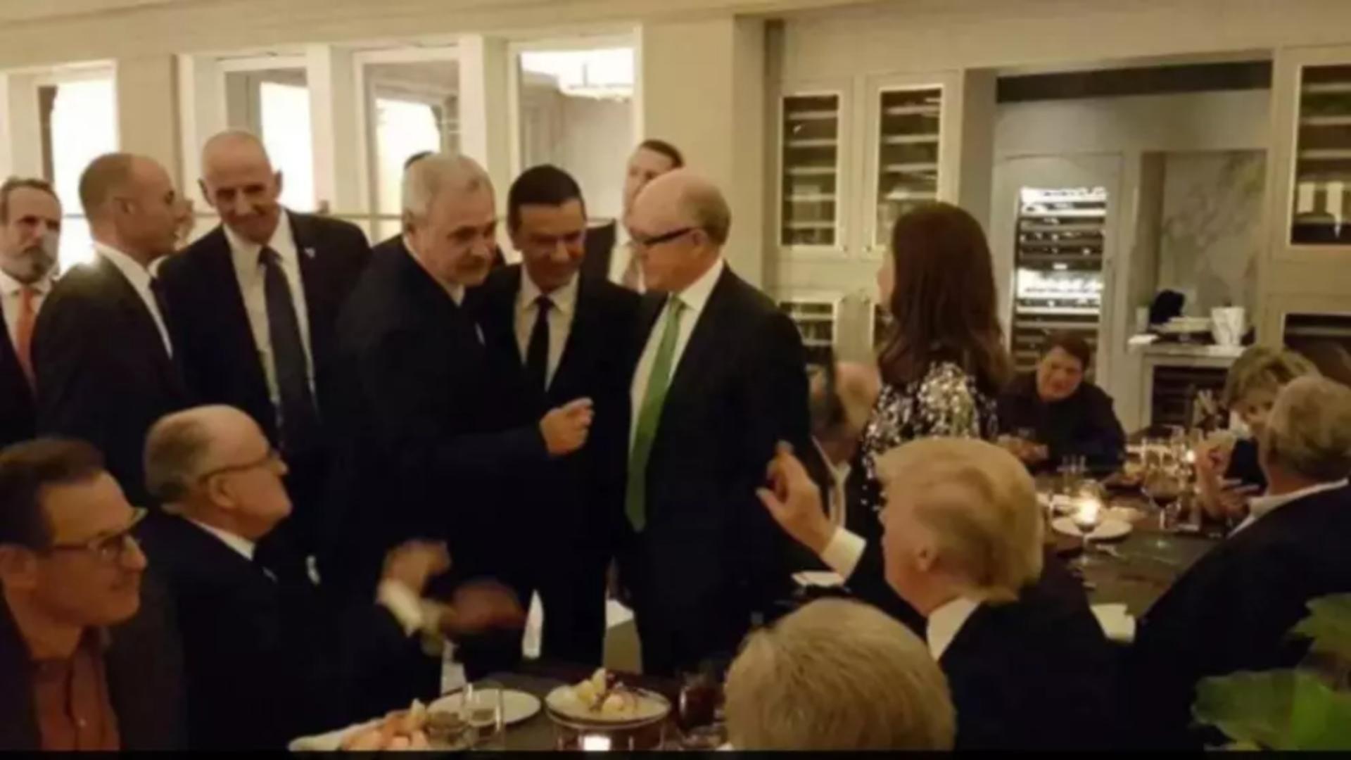 Liviu Dragnea, la recepția organizată după învestirea lui Donald Trump