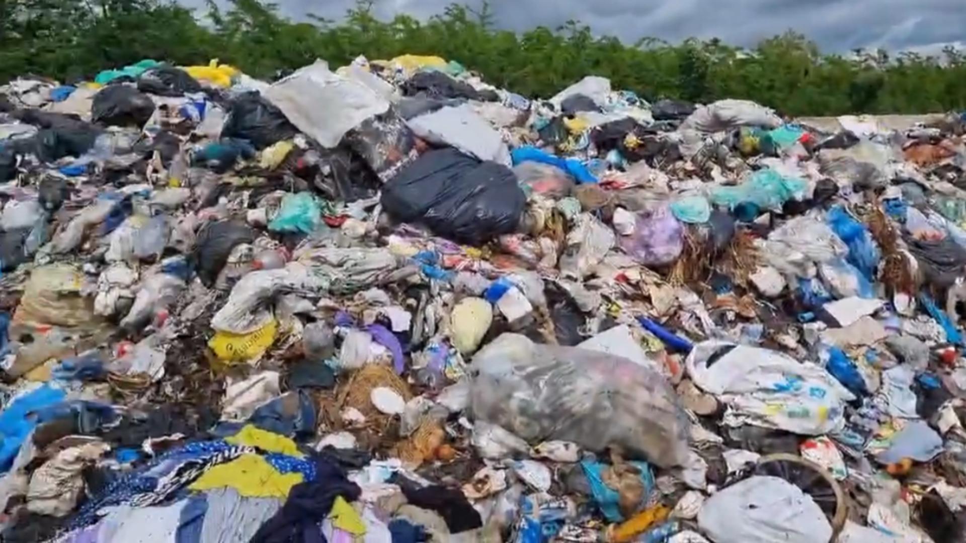 Deșeuri Prahova / Foto: Captură Facebook Octavian Berceanu