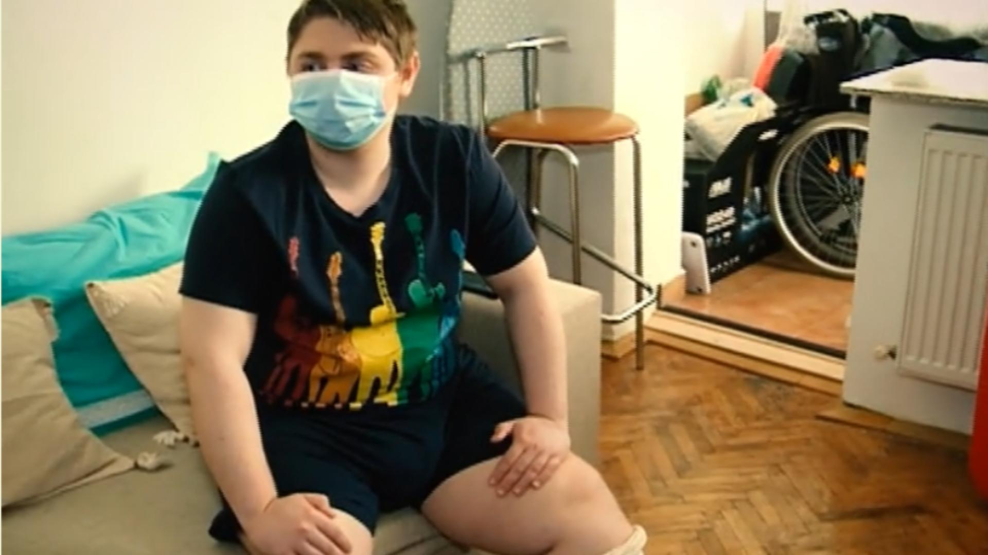 Gabriel Bălăcean, copilul bolnav