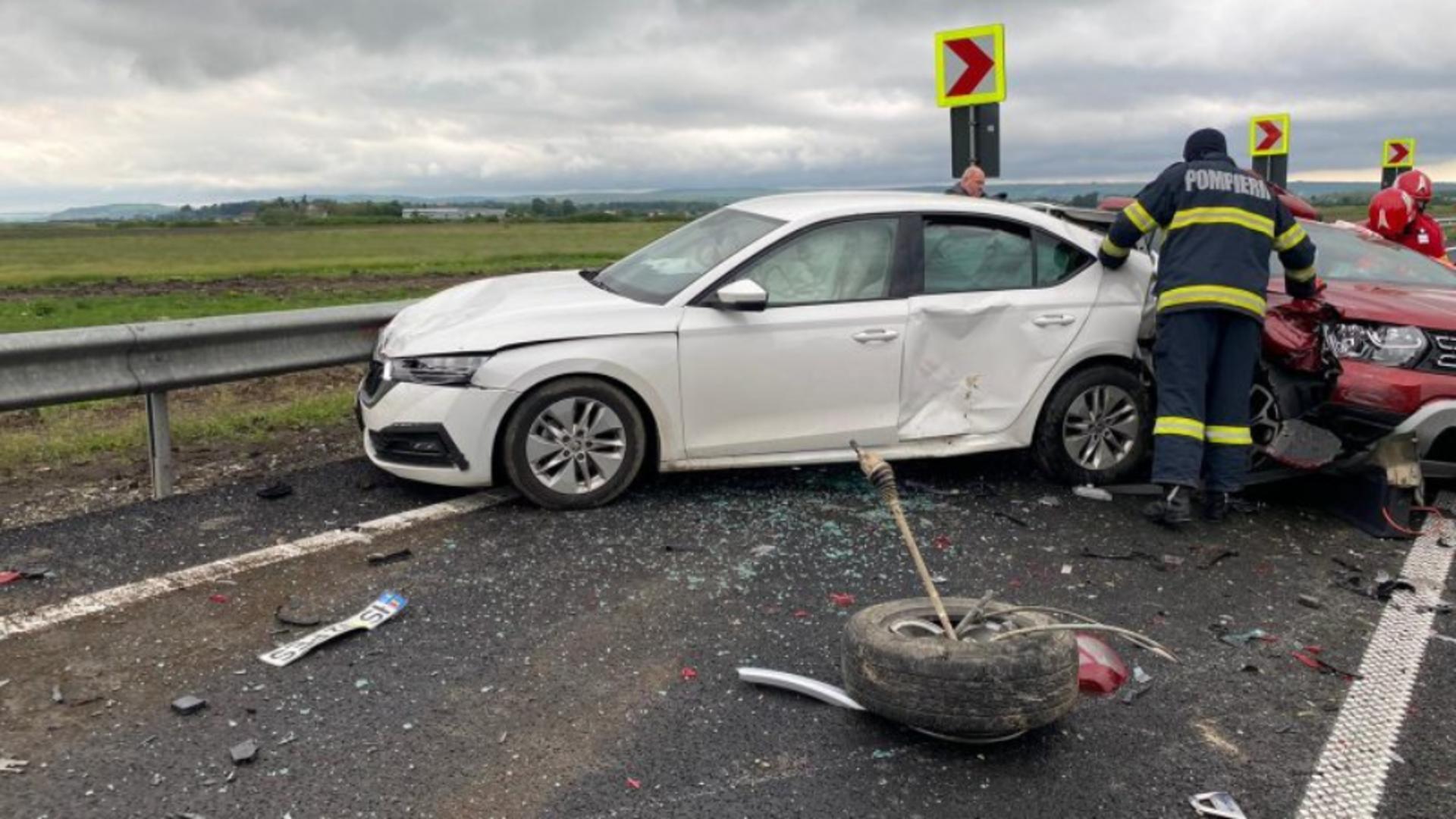 Accident în Bacău. Foto: bacau.net