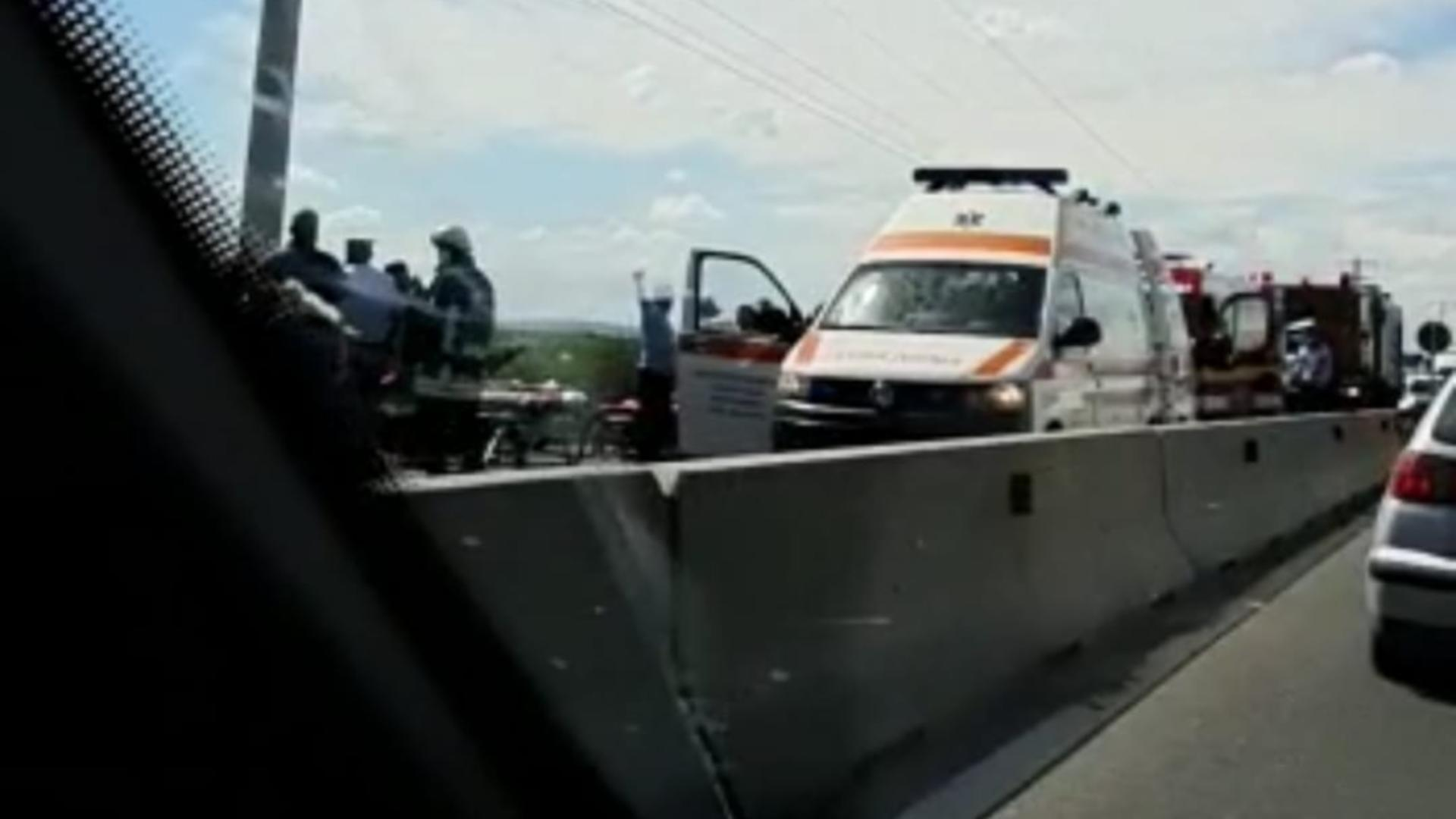 Accident infiorator pe DN 1 (sursă foto: Ziua de Constanta)