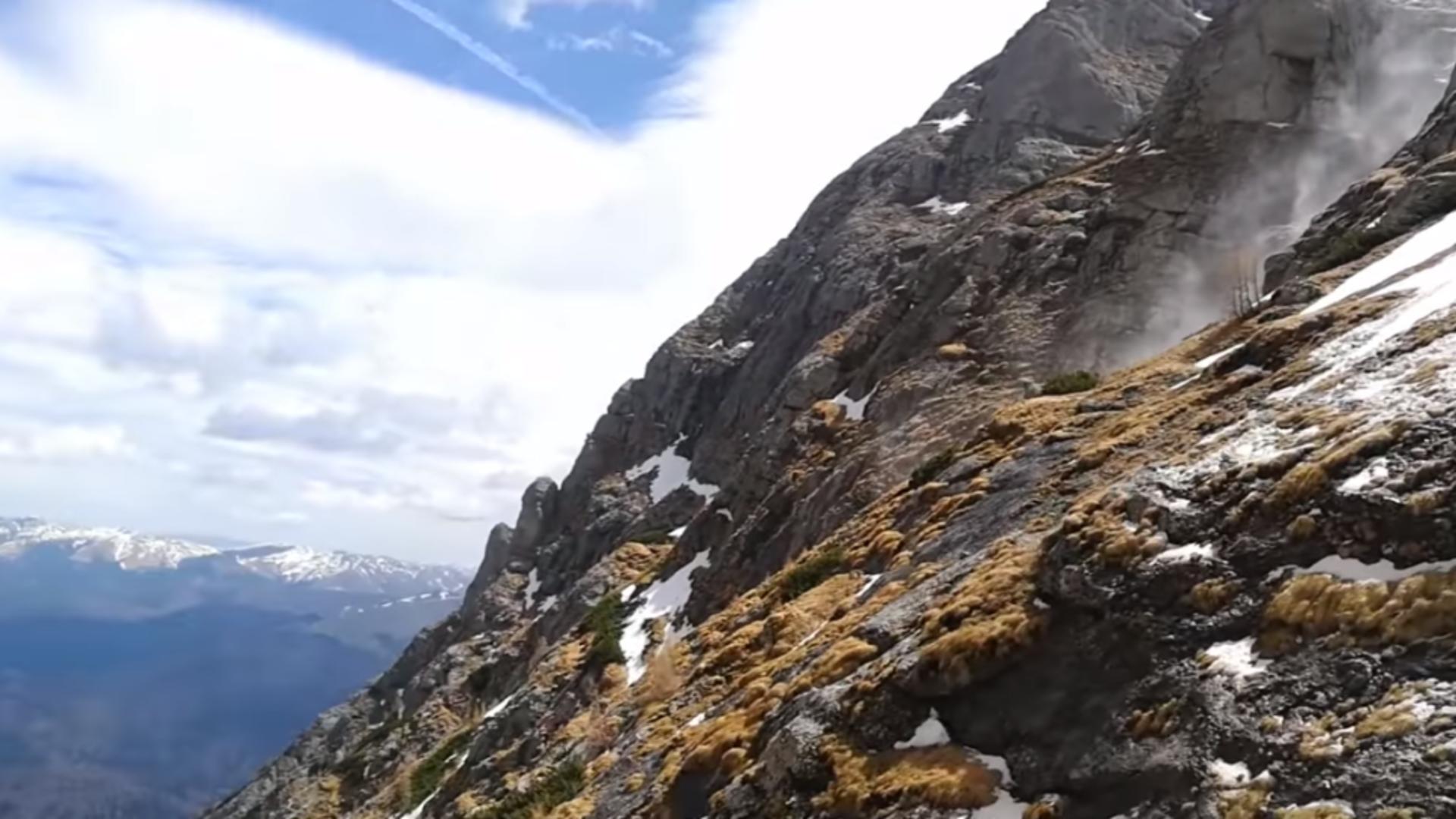 Pericol de avalansă în munții Bucegi