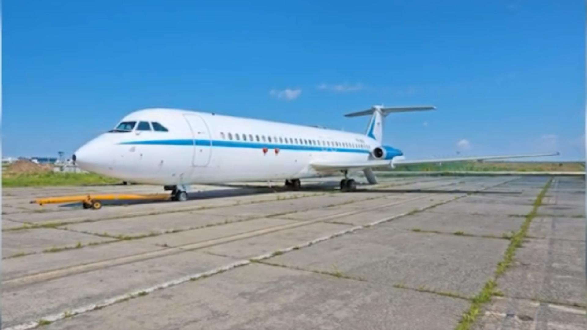 Avionul lui Ceaușescu. Foto: captură Realitatea Plus