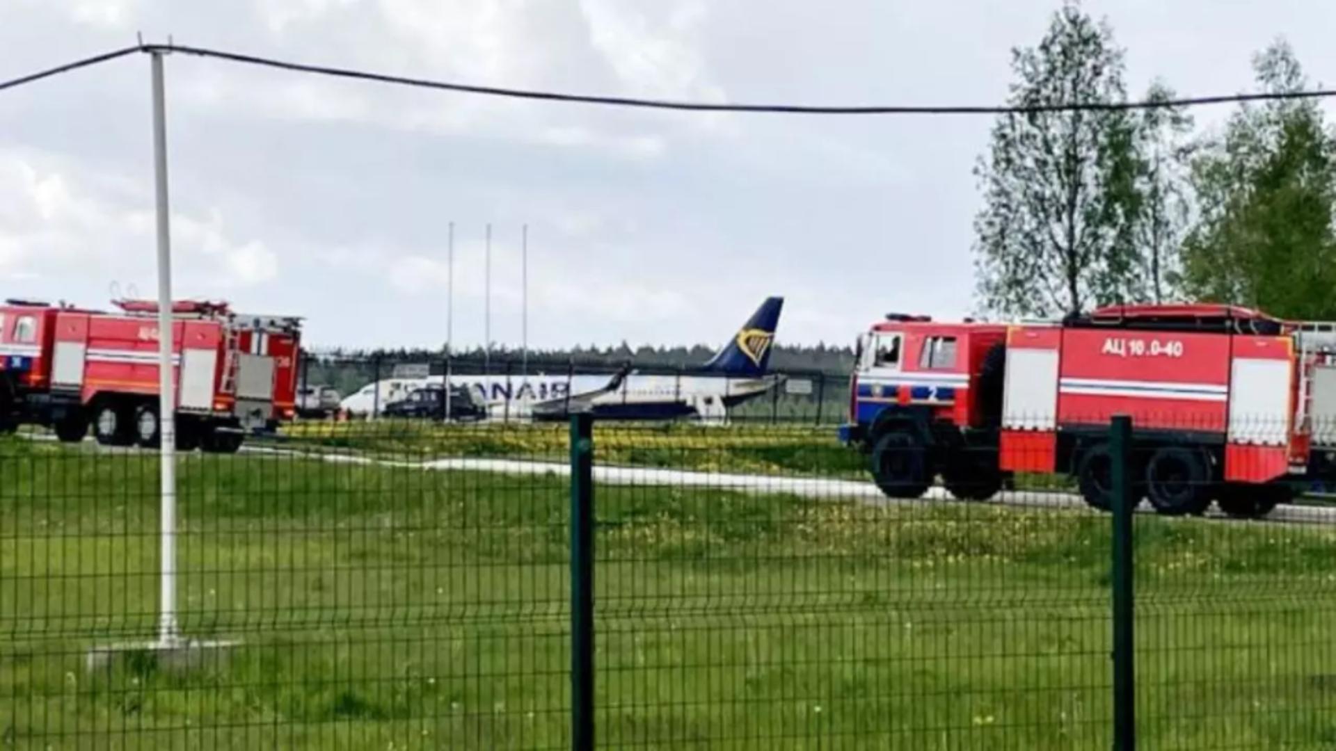 Aeronava Ryanair retinută de sol de autoritățile din Belarus