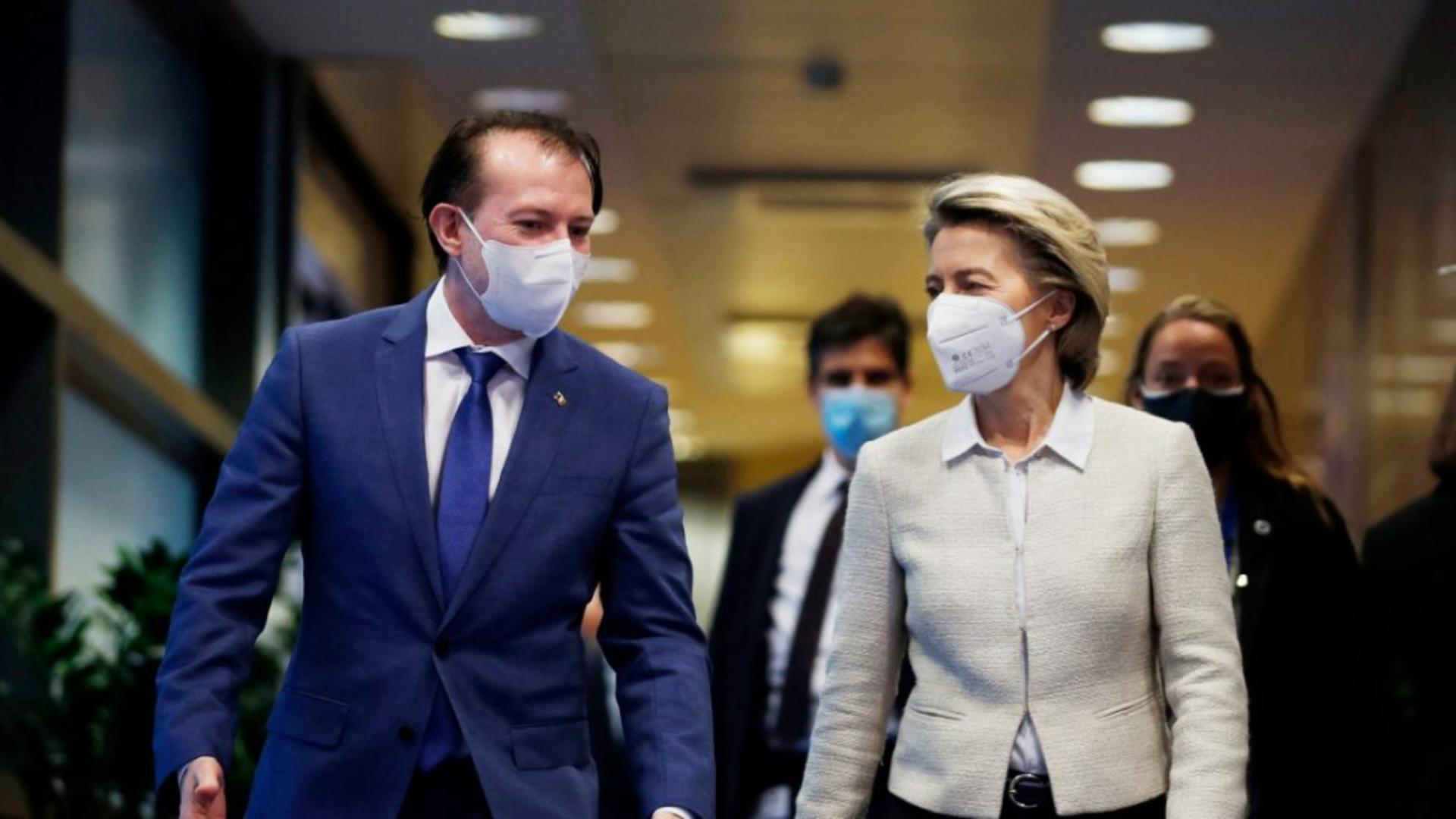 Florin Cîțu merge la Bruxelles pentru discuții pe PNRR cu comisarii europeni și Ursula von der Leyen Foto: Profi Media
