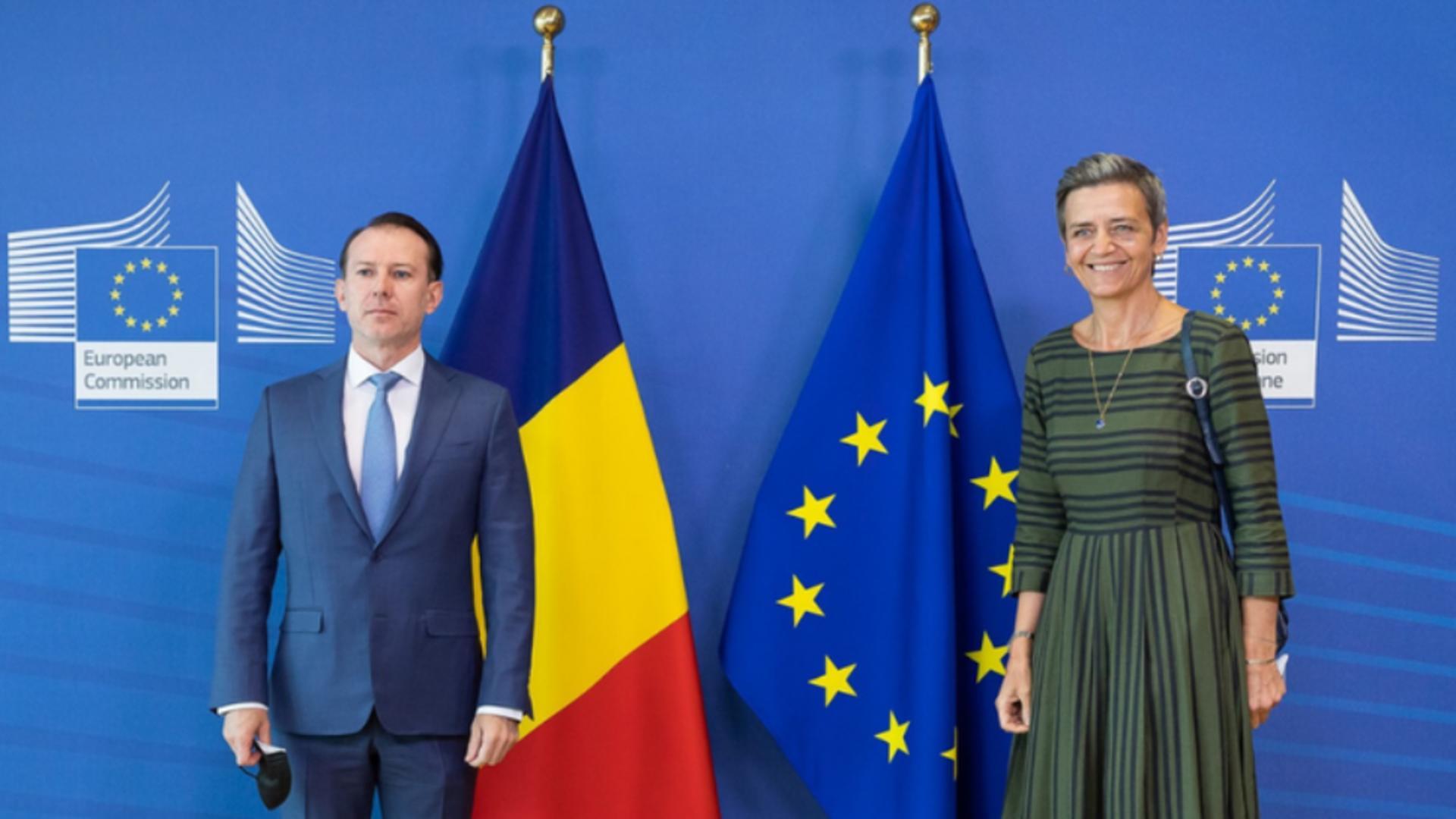 Premierul Florin Cîțu, la Bruxelles: Sunt recunoscător Comisiei Europene pentru sprijin, îndrumare şi cooperare Foto: Facebook.com