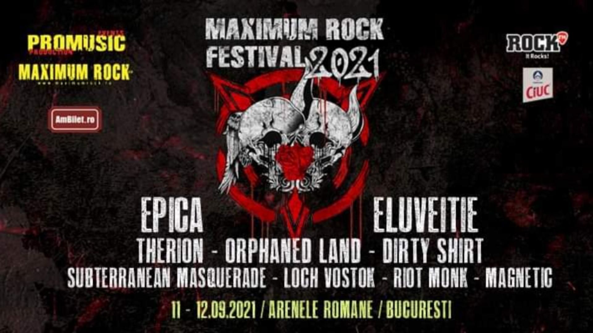Festivalul Maximum Rock EDIȚIA 2021 - 11-12 septembrie