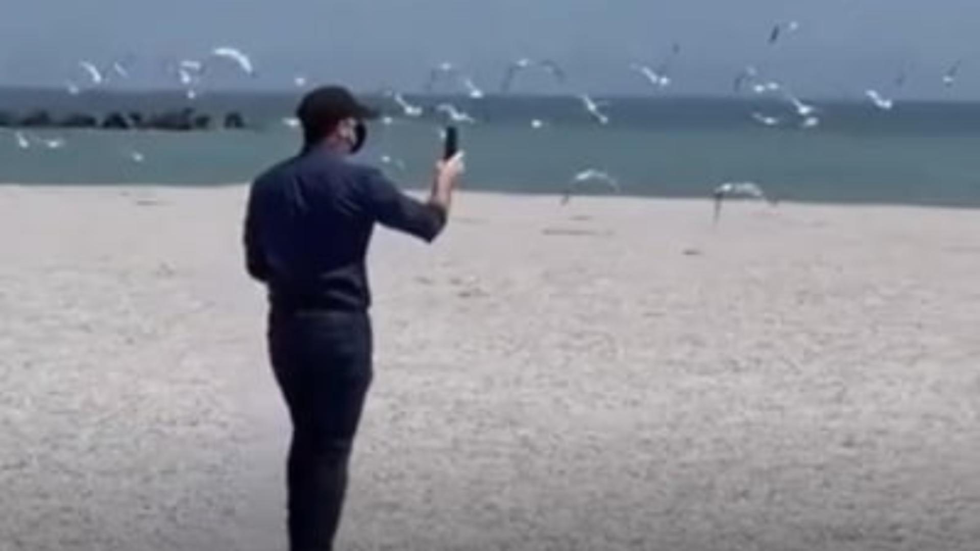 Florin Citu pe plaja