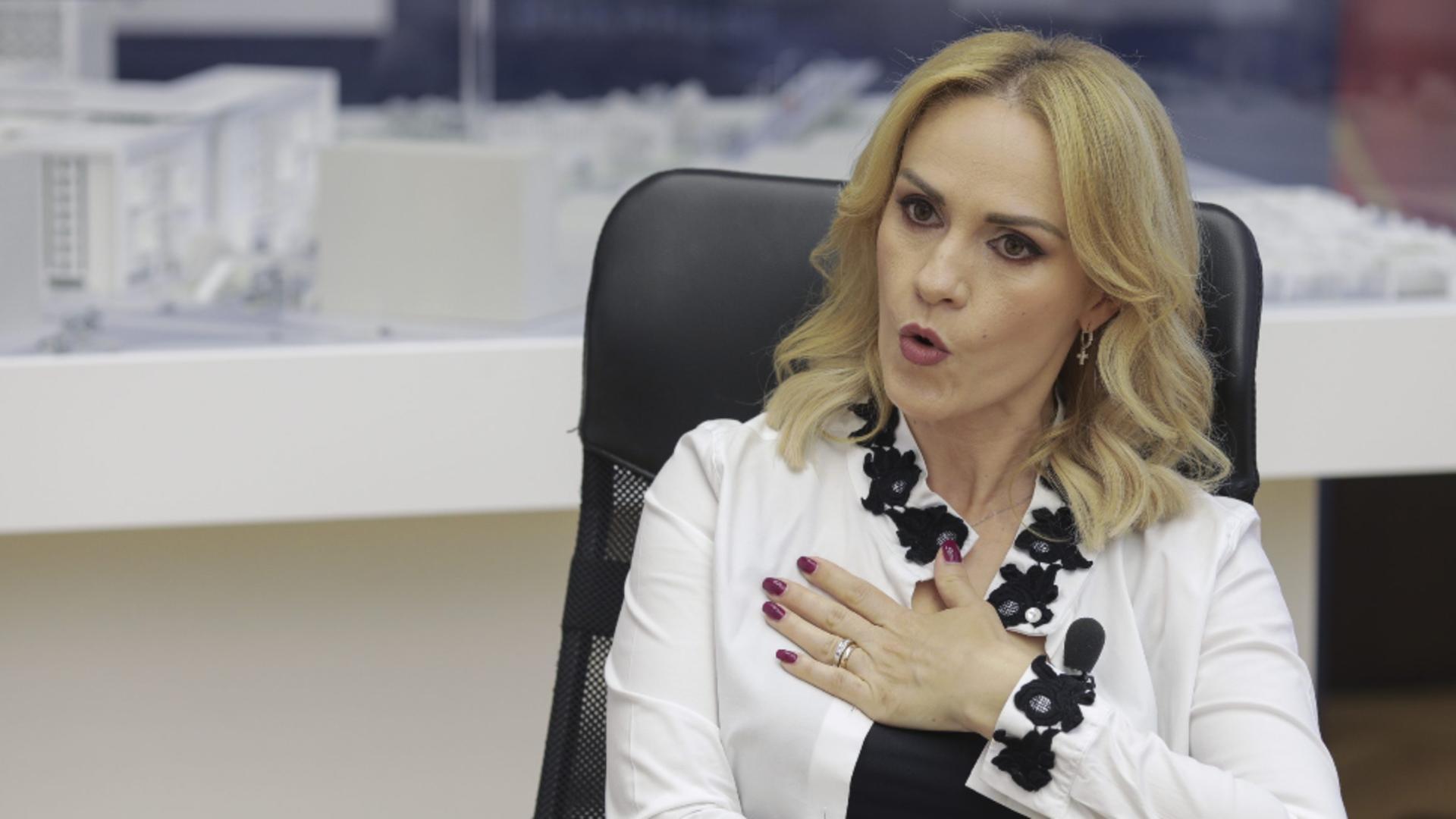 Gabriela Firea, acuzații grave pentru Guvernul Cîțu: Este un genocid social... Foto: INQUAM/Octav Ganea