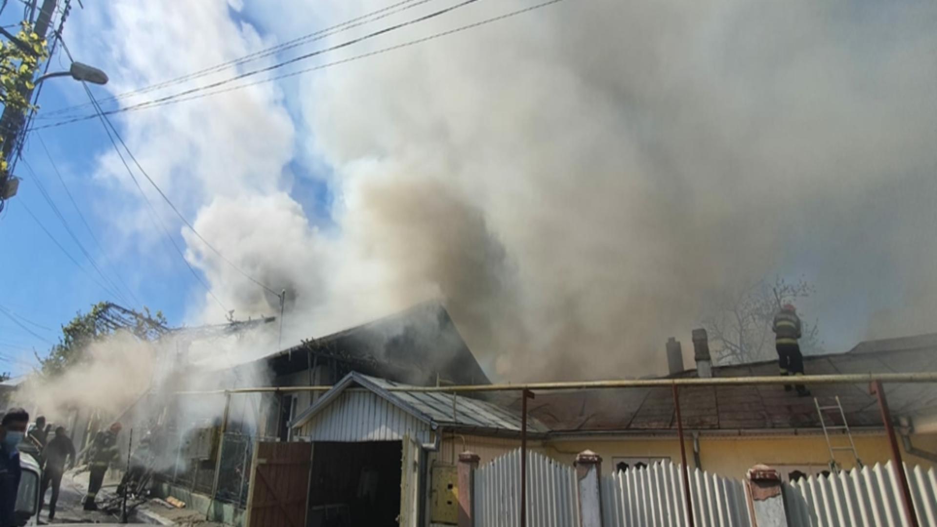 Incendiu de proporții la Bârlad