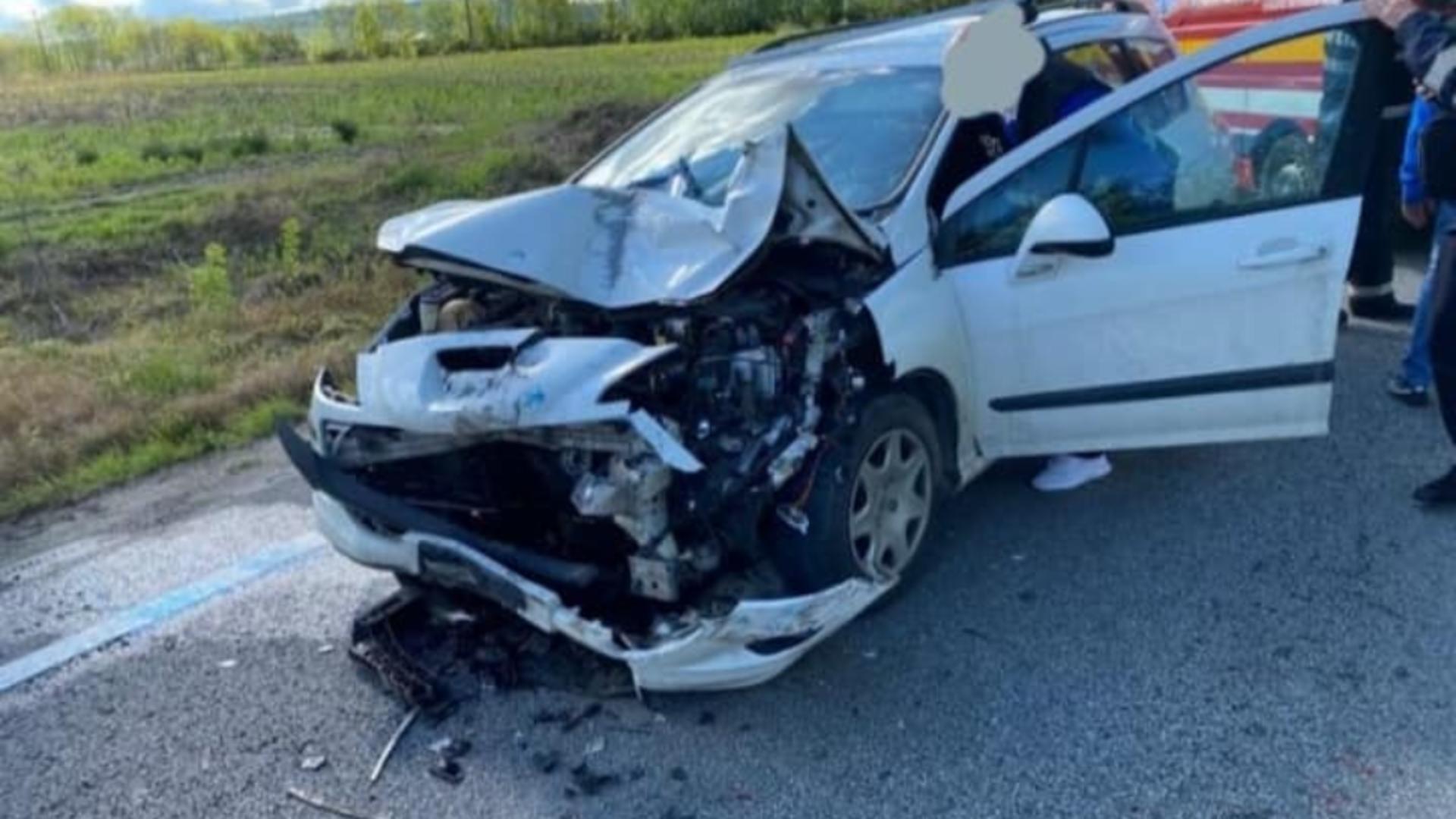 Accident teribil pe E58 (foto: Info Trafic 24)