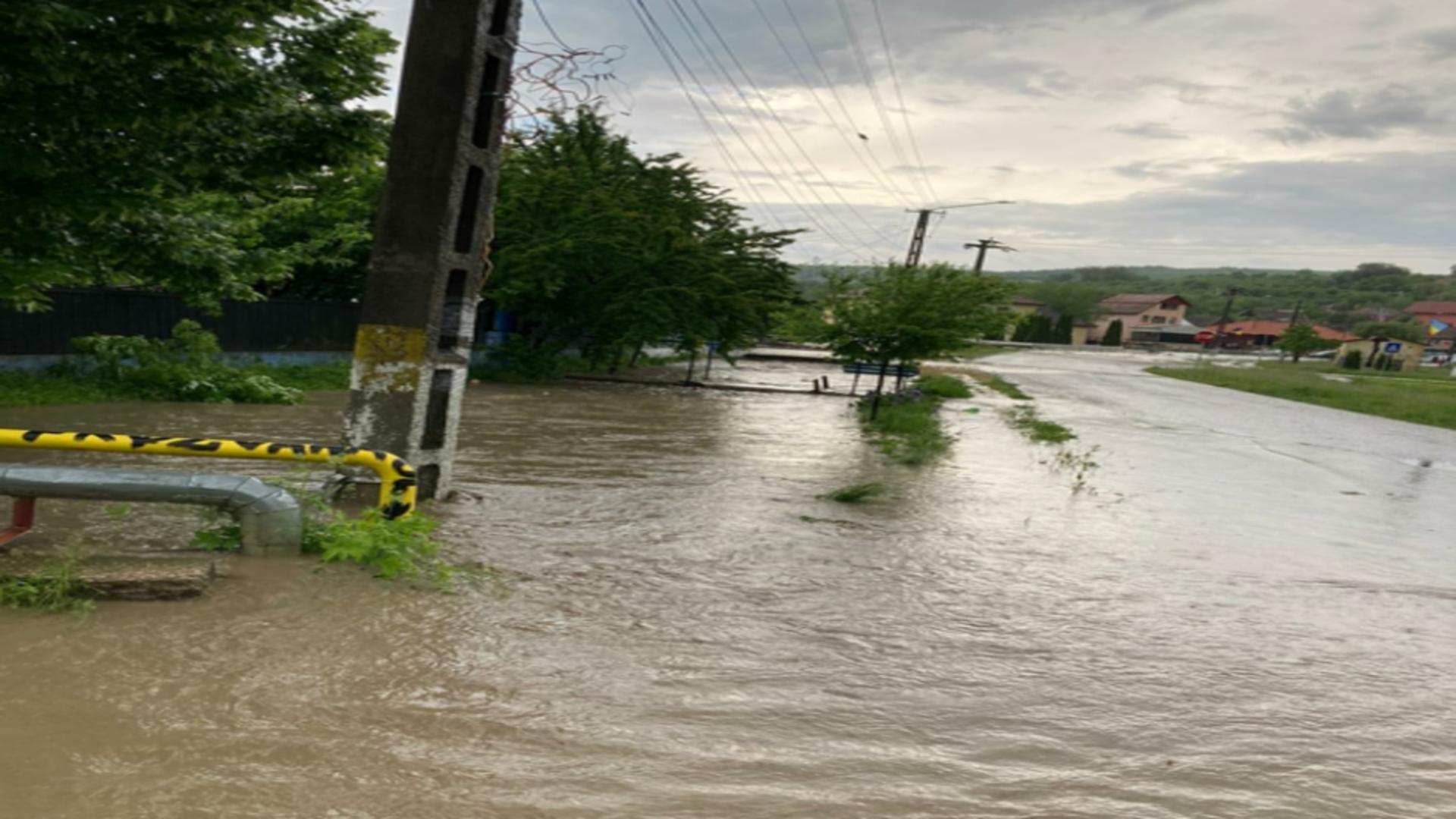 Inundații Mureș. Foto: ISU