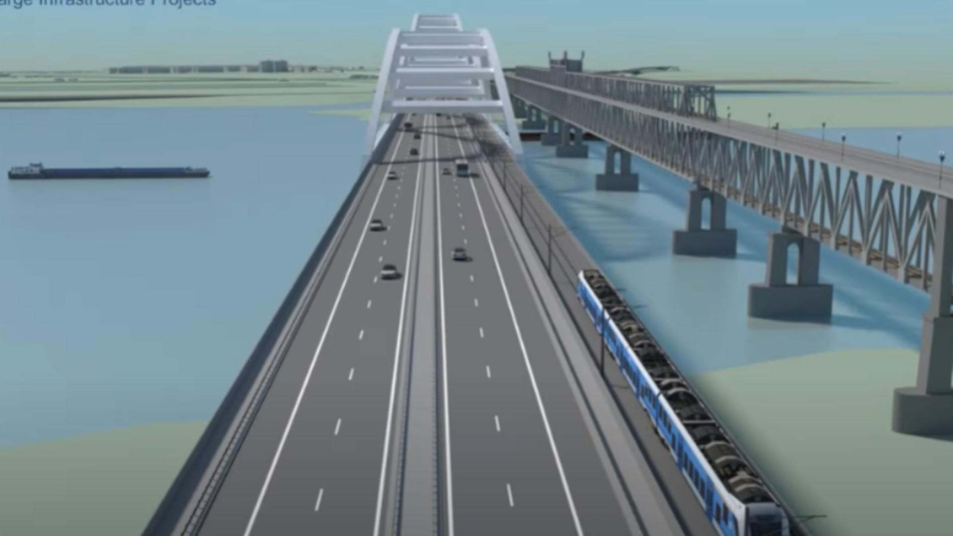Noul pod Giurgiu - Ruse. Foto: captură YouTube