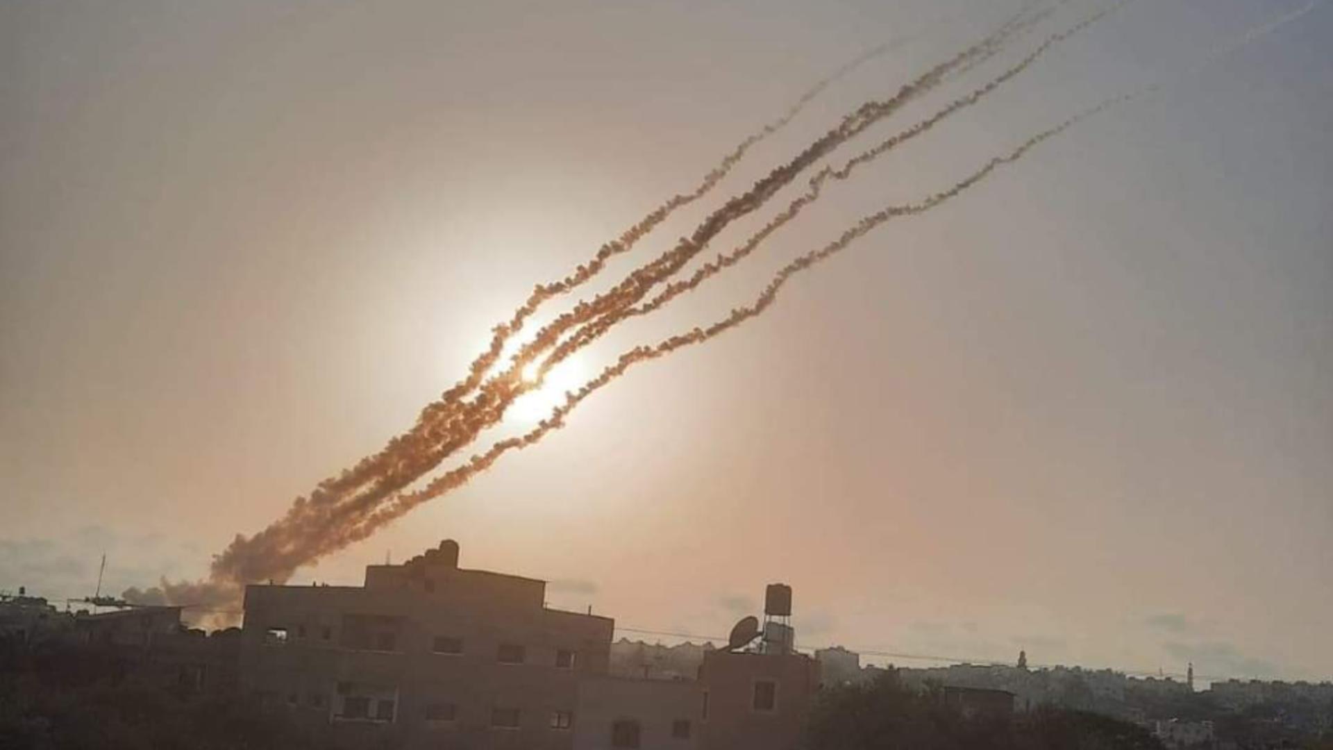 Rachete lansate din Fâșia Gaza (foto:Pakistan Defence)