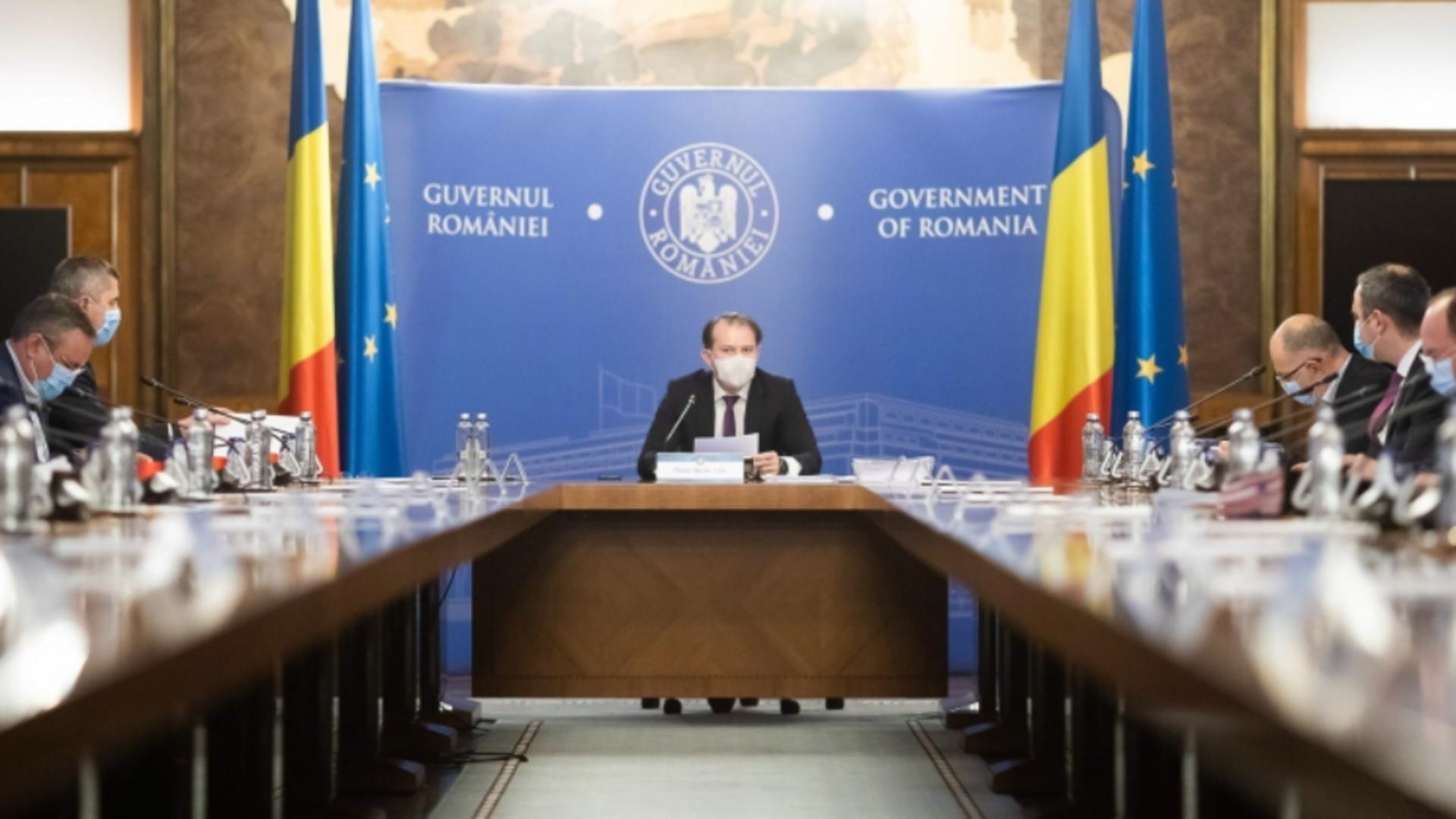 ȘEDINȚĂ la Palatul Victoria, la ora 12.00! Ce proiecte au pe masă miniștrii din Guvernul Florin Cîțu