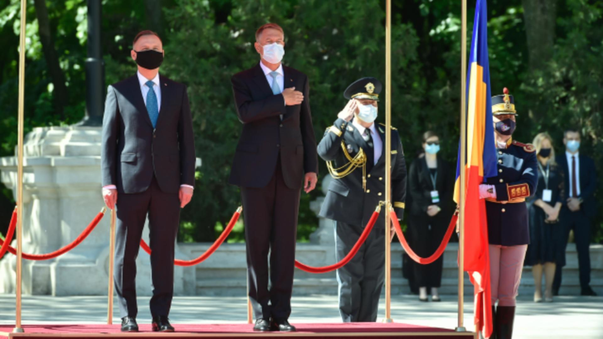 Klaus Iohannis și Andrzej Duda / Foto Administrația prezidențială