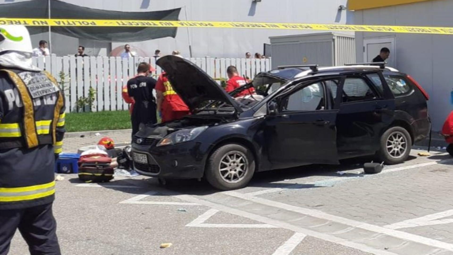 O mașină a explodat în Capitală