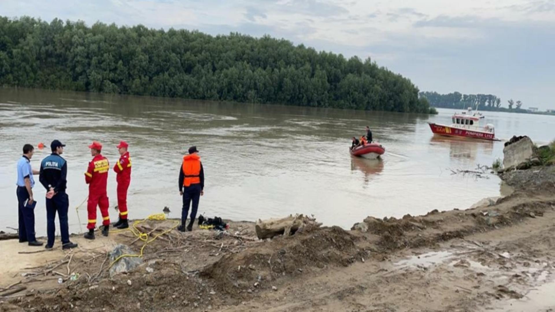 Căutare surori căzute în Dunăre, portul Isaccea