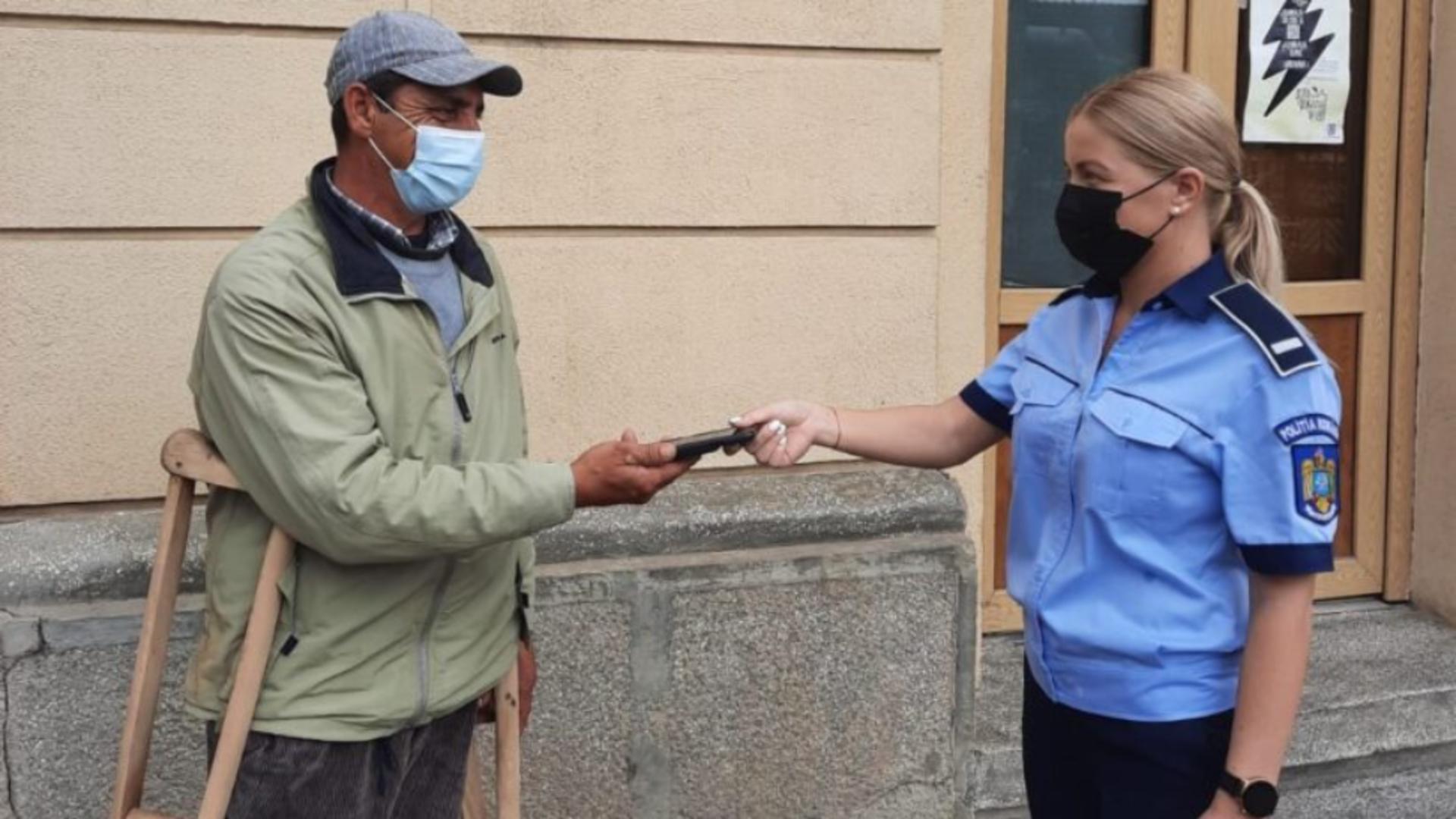 Un bărbat din Iași a făcut un gest care i-a impresionat pe polițiști