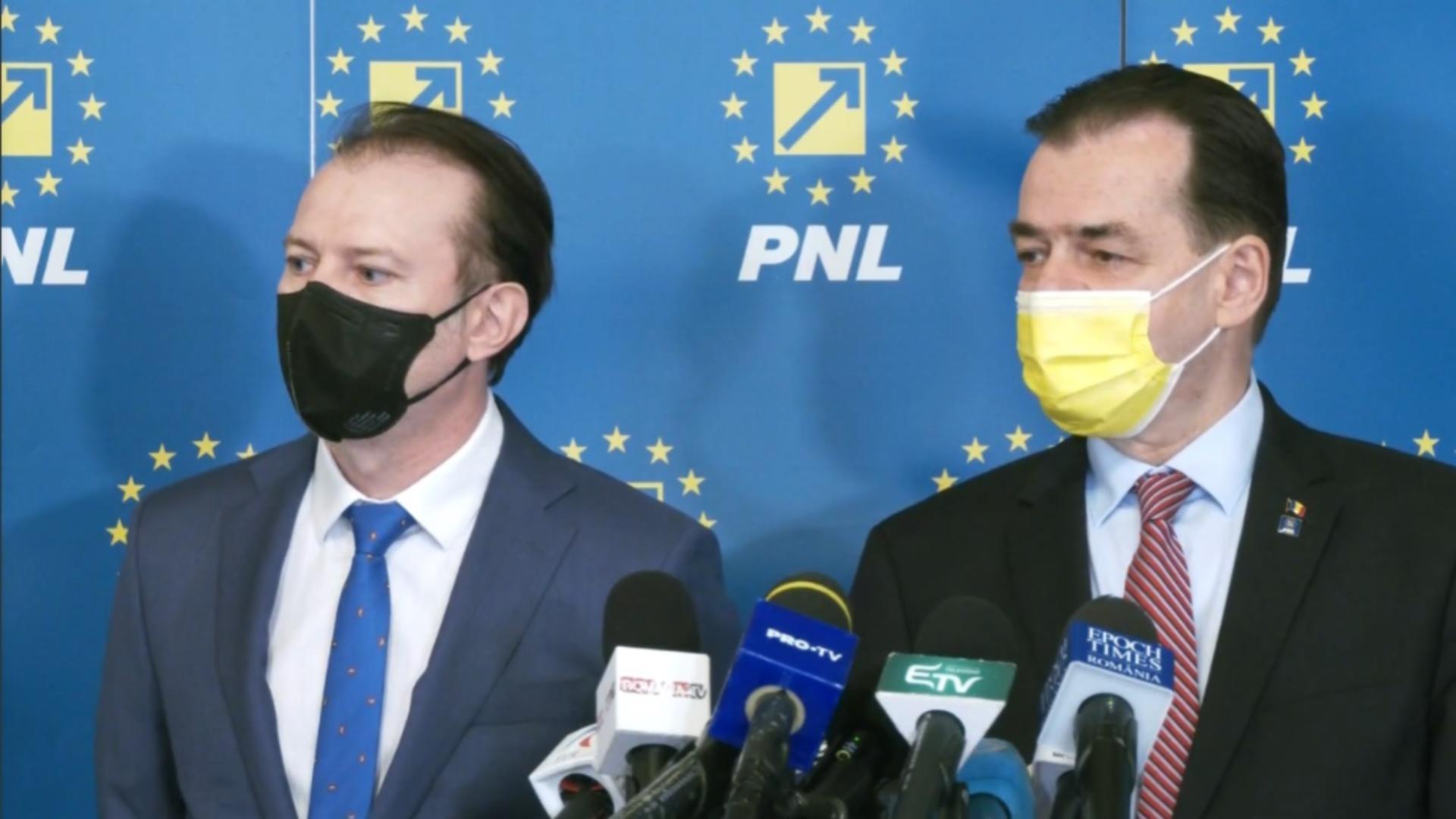 Florin Cîțu și Ludovic Orban, competitori la șefia PNL