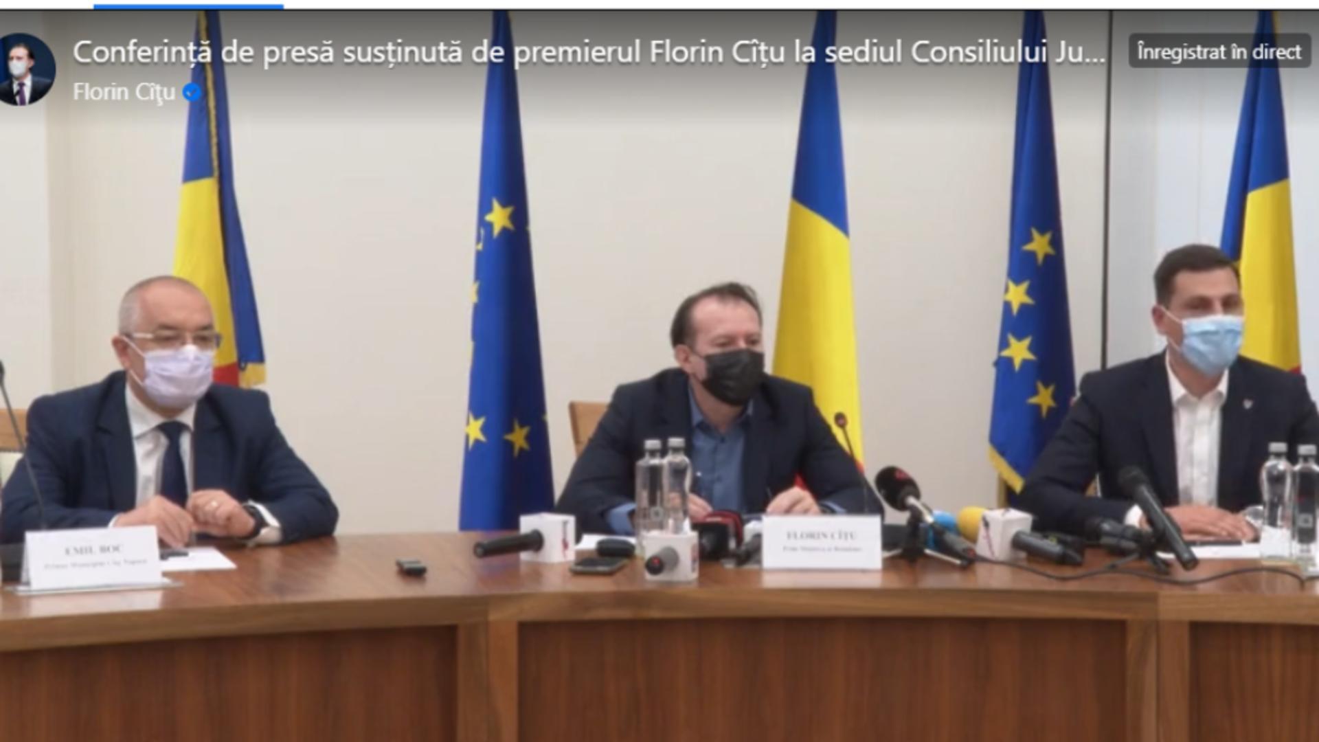 Conferință de presă Florin Cîțu, Maramureș