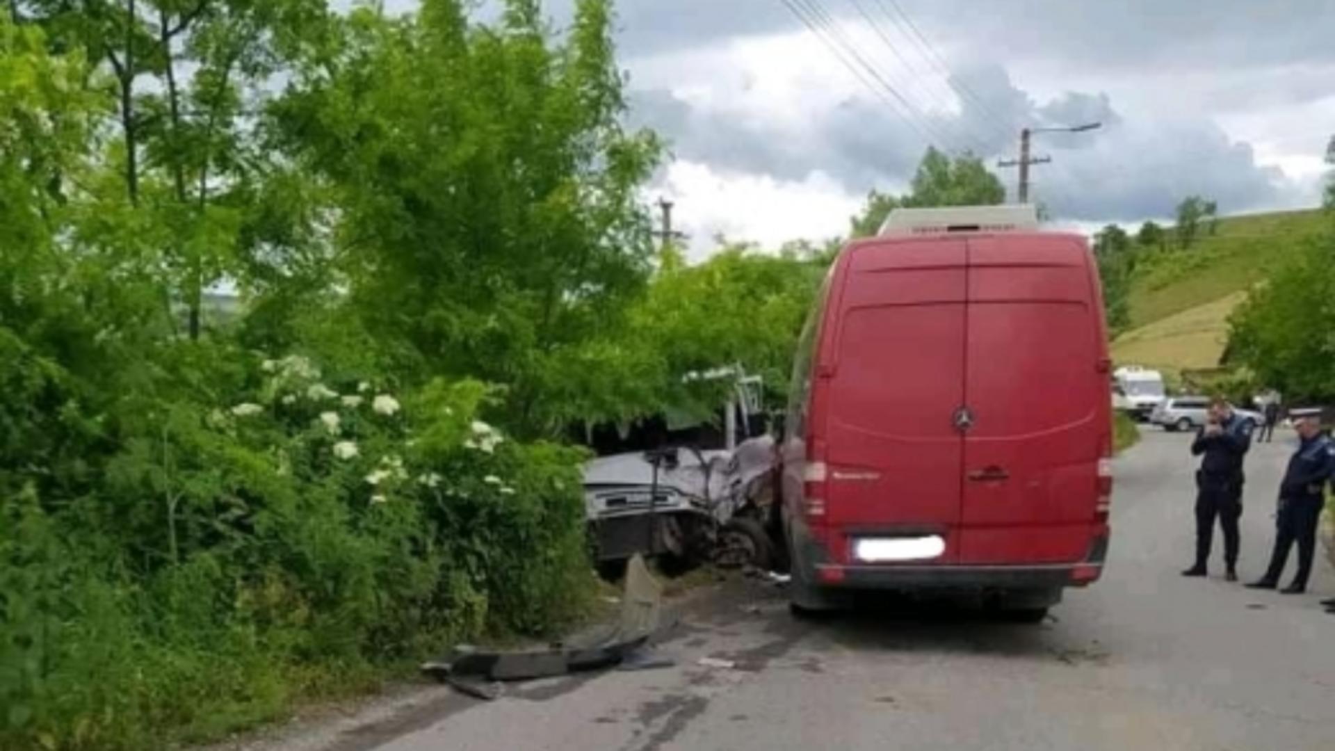 Accident grav în Cluj. Foto: captură monitorulcj.ro