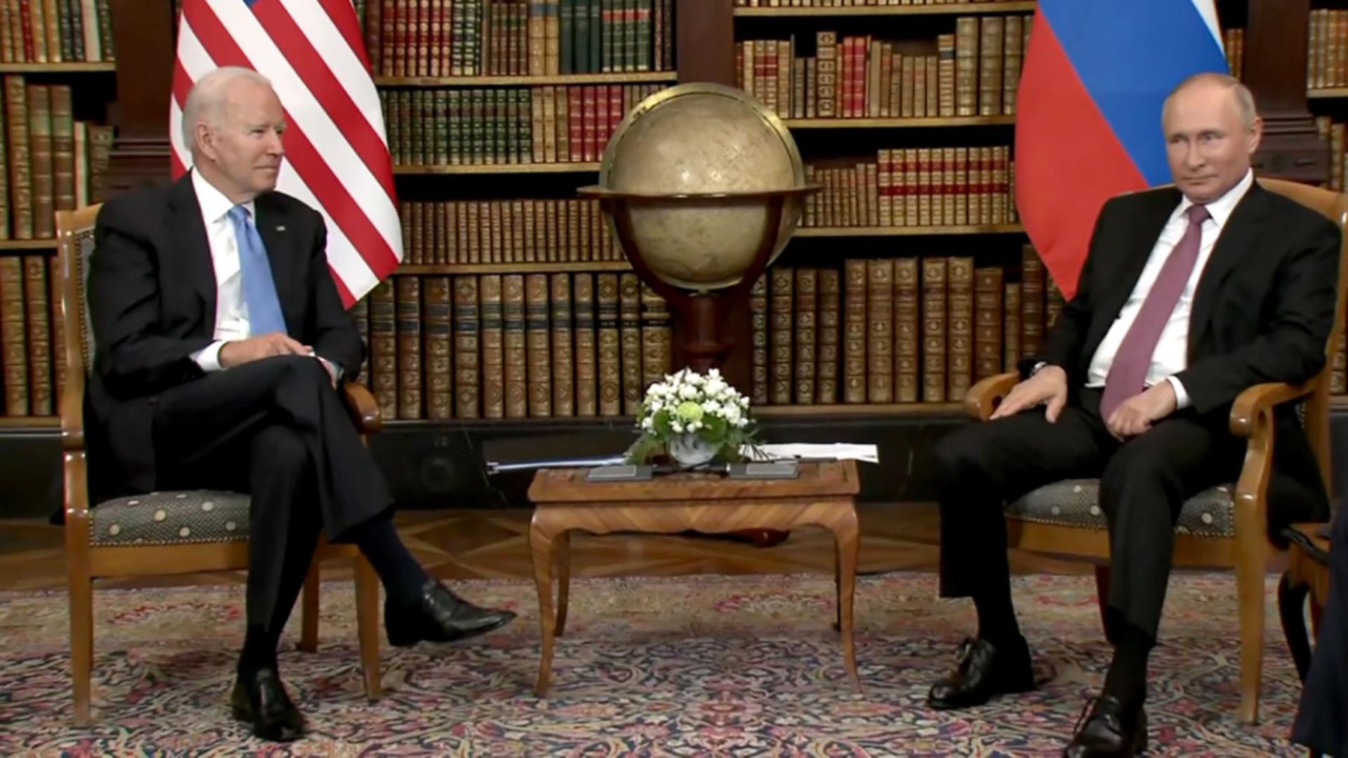 Întâlnire de gradul zero între cei mai mari lideri ai lumii - PRIMELE imagini cu Biden și Putin, la Geneva Foto: CNN, RIA Novosti, 16 iunie 2021