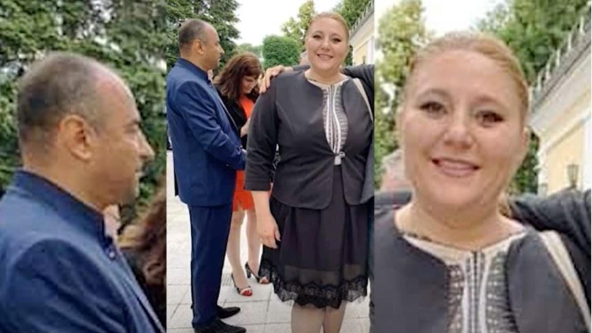 Diana Șoșoacă la Ambasada Rusă