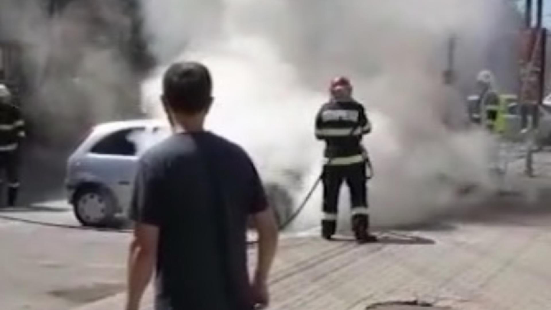 Incendiu mașină Bistrița