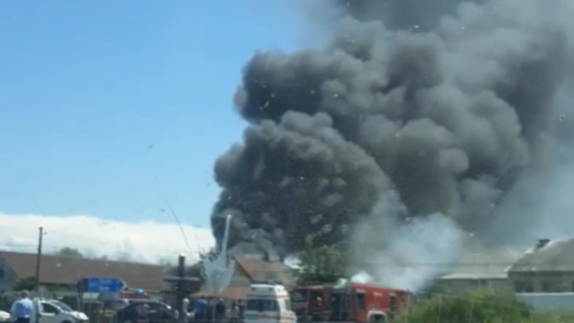 Incendiu de proportii in Caras Severin