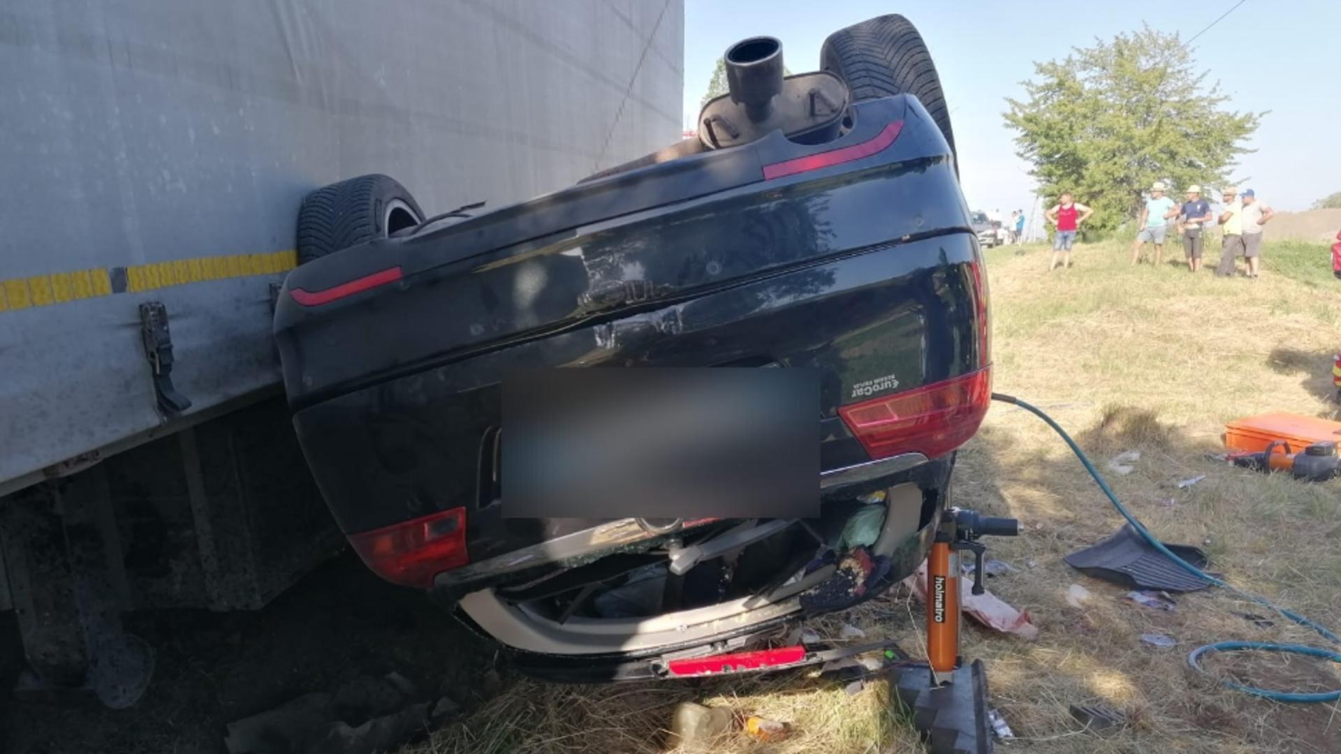 Accident rutier în Cluj. Foto: captură ISU Cluj