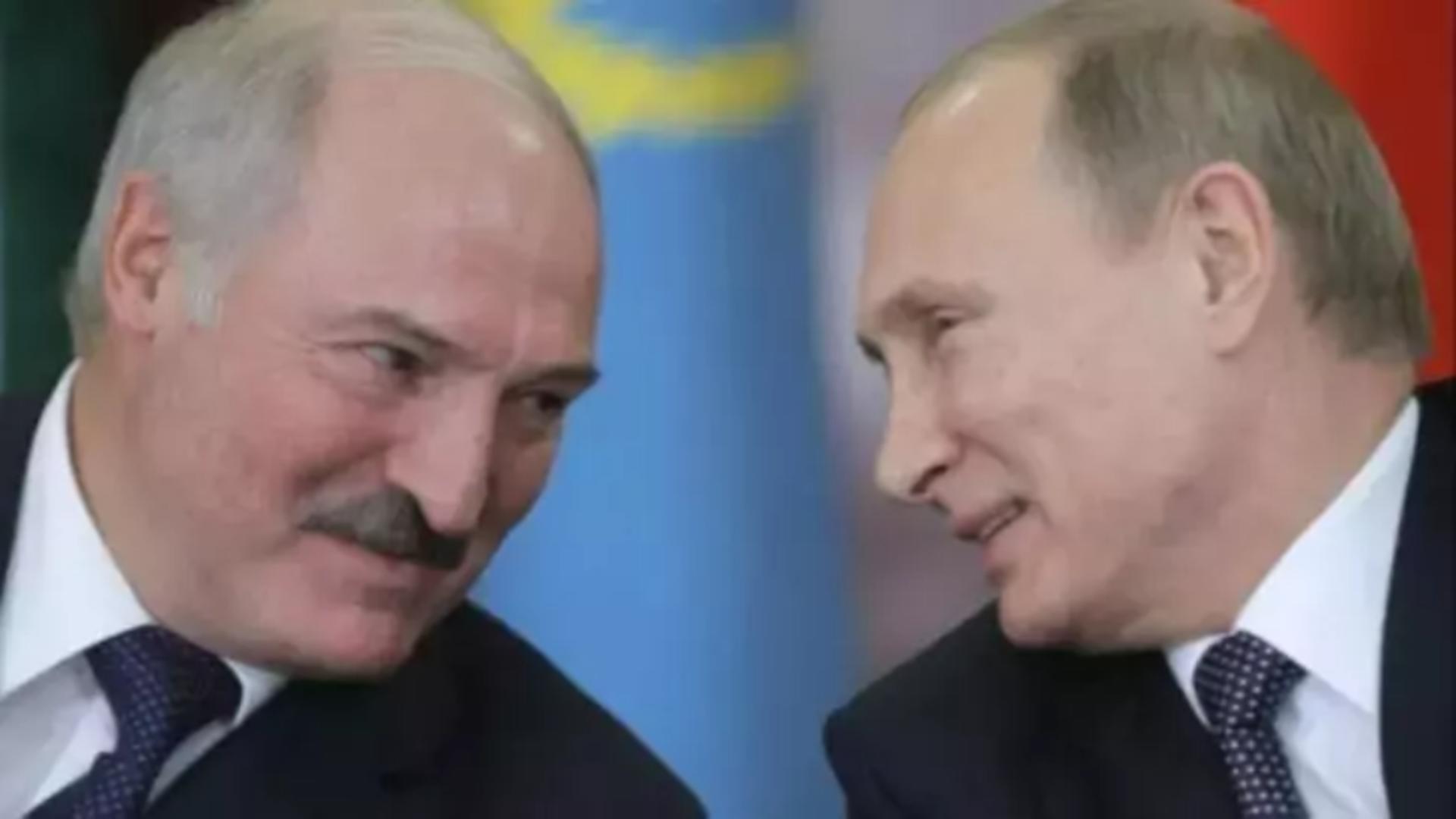 Aleksandr Lukașenko și Vladimir Putin