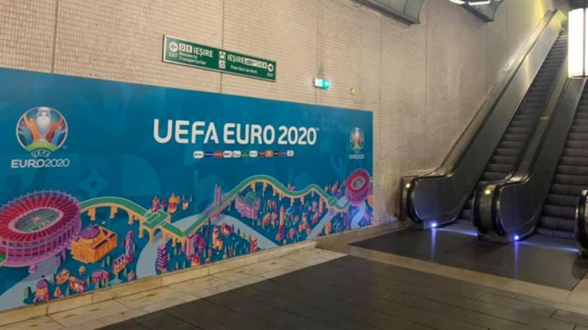 EURO 2020. Metroul bucureștean prelungește circulația trenurilor LUNI, 28 iunie