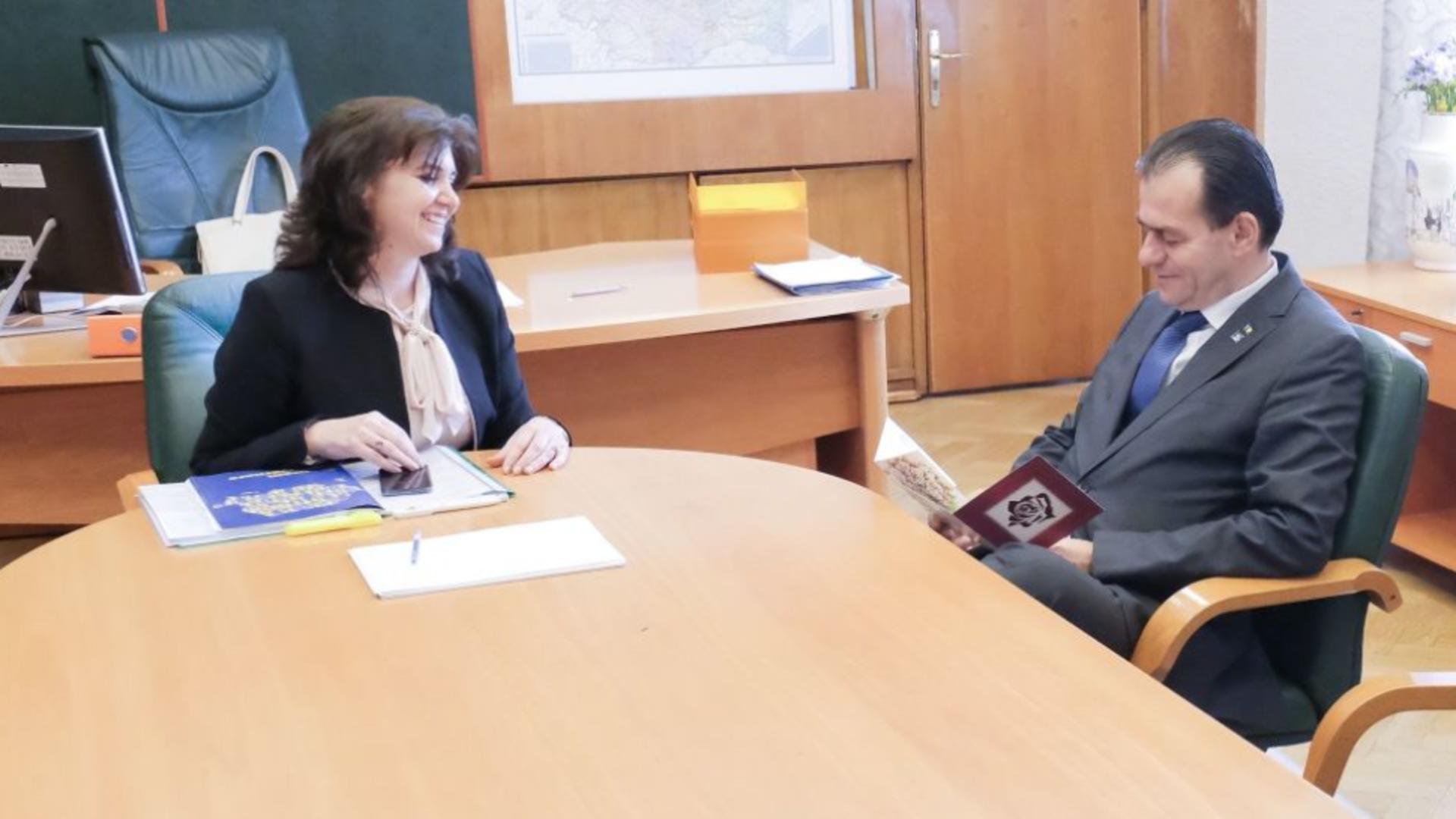 Monica Anisie și Ludovic Orban