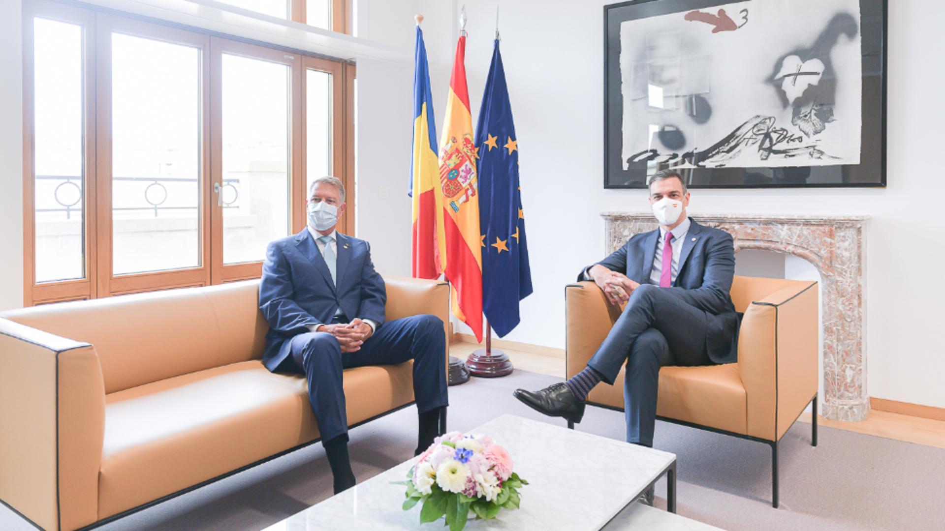 Klaus Iohannis, întâlnire bilaterală cu Prim-ministrul Spaniei (Bruxelles, Regatul Belgiei) / Foto: Administrația Prezidențială