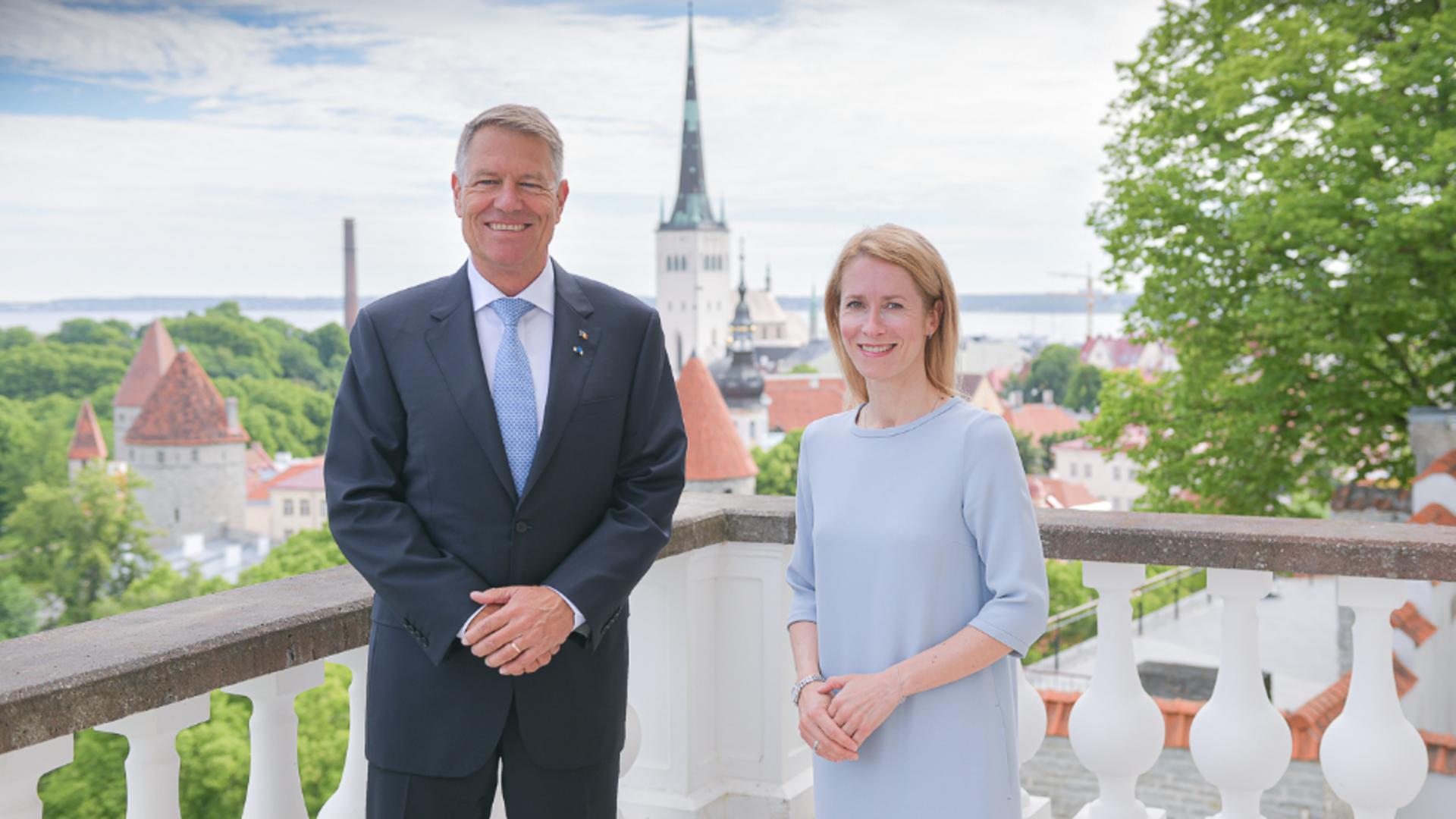 Klaus Iohannis, întâlnire cu Prim-ministrul Republicii Estonia, Kaja Kallas / FOTO: Administrația Prezidențială