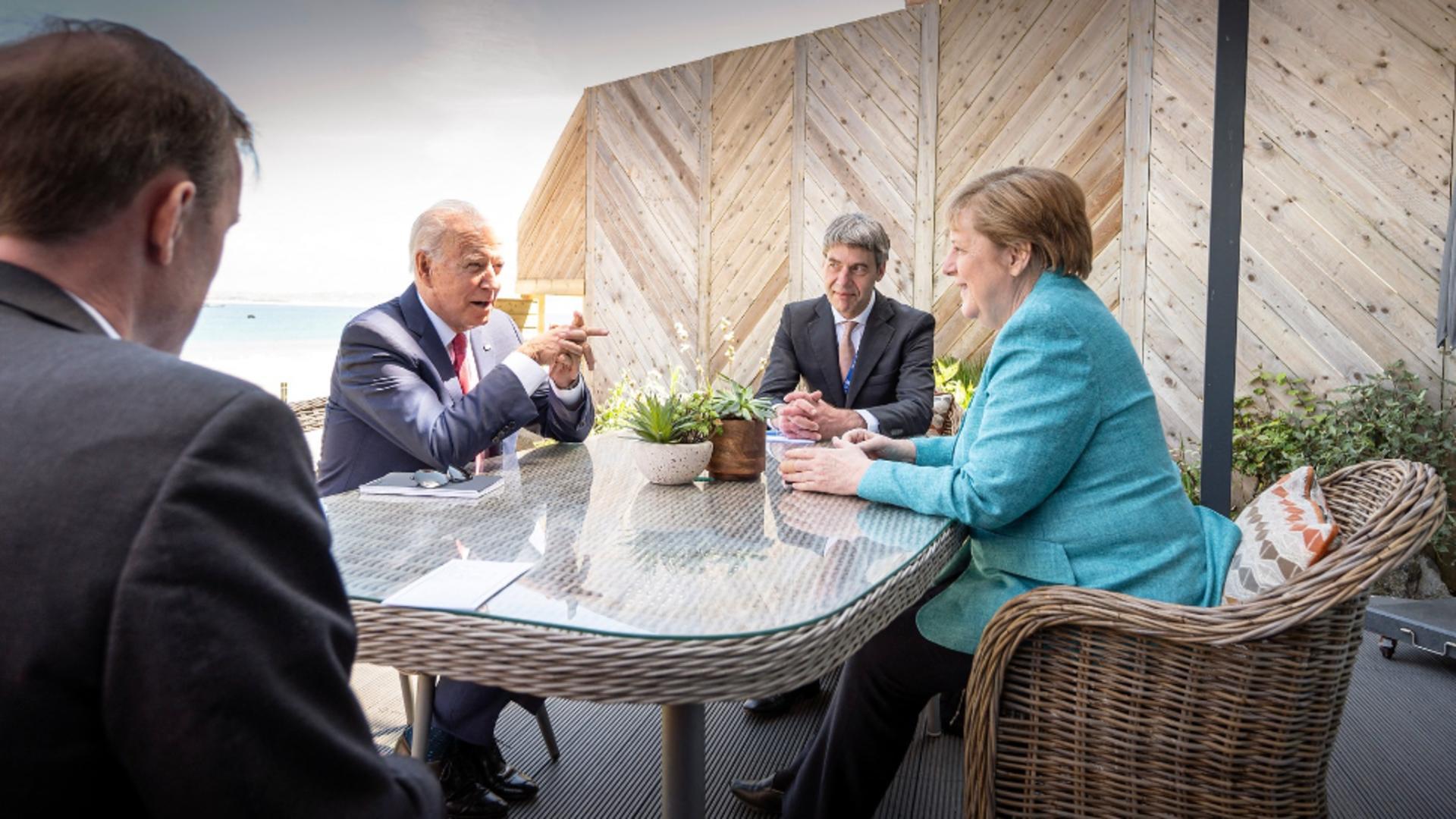 Întâlnire Merkel - Biden (FOTO: Profi Media)