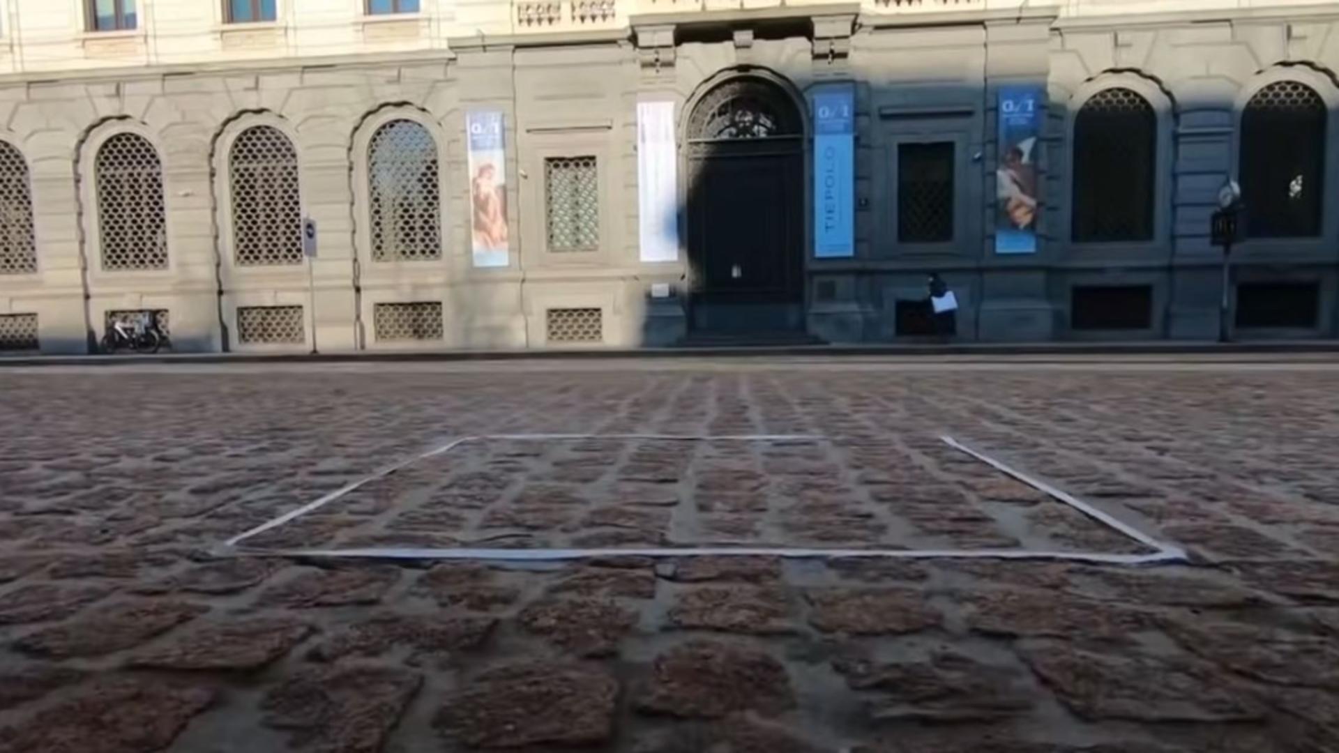 Sculptura invizibilă, opera de artă a italianului Salvatore Garau/ Foto/captură video