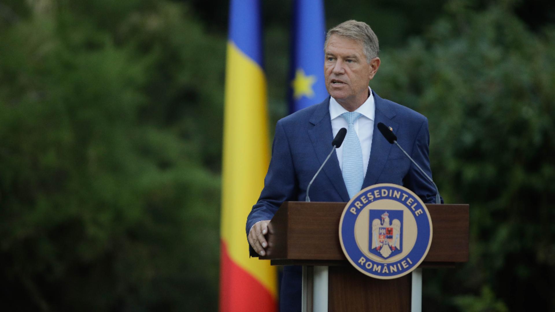 Președintele Klaus Iohannis. Foto: Inquam  / George Călin
