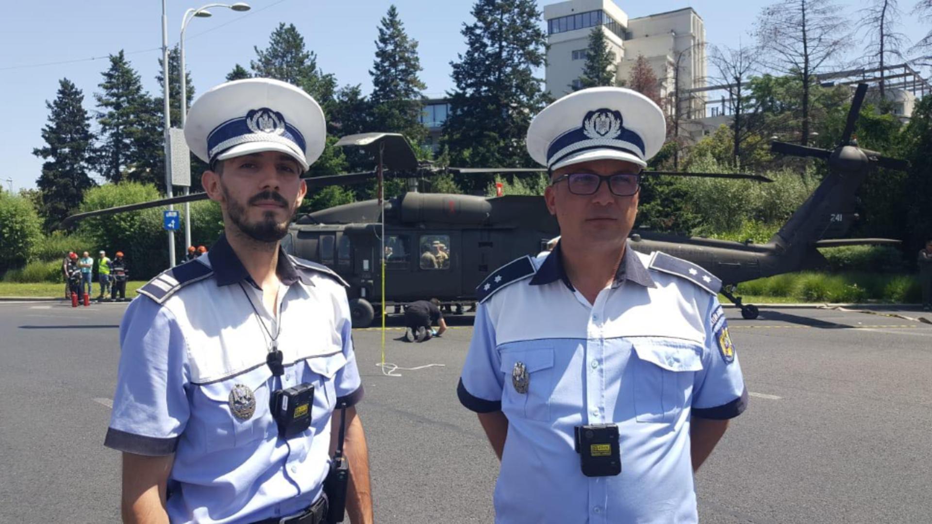 Beinur și Adrian, cei doi polițiști care au contribuit la evitarea unei tragedii