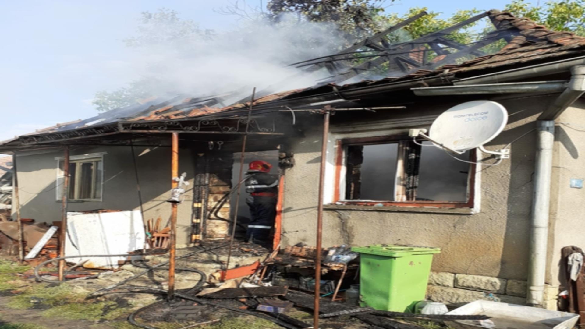 Explozie, urmată de incendiu, în Cluj. Foto: Realitatea de Cluj