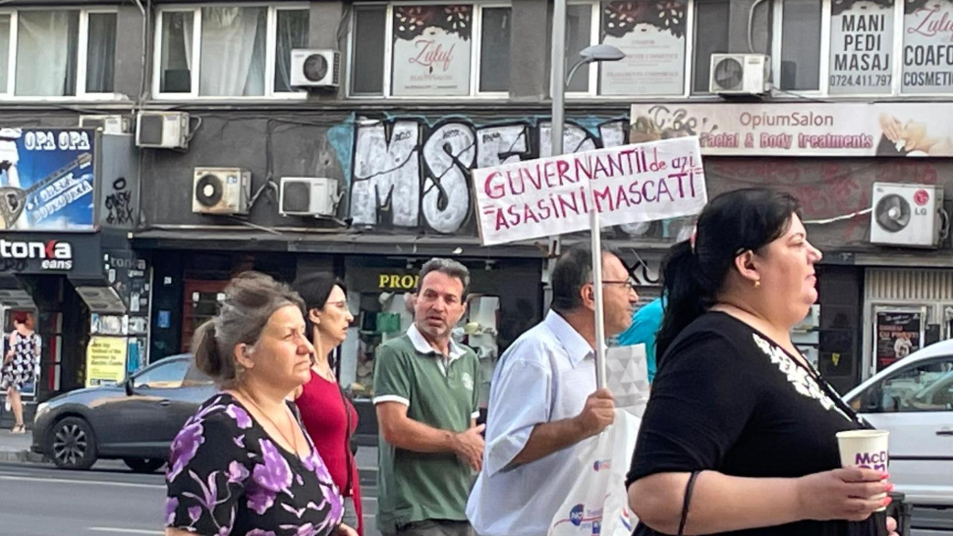 Protest Piața Universității- Piața Victoriei