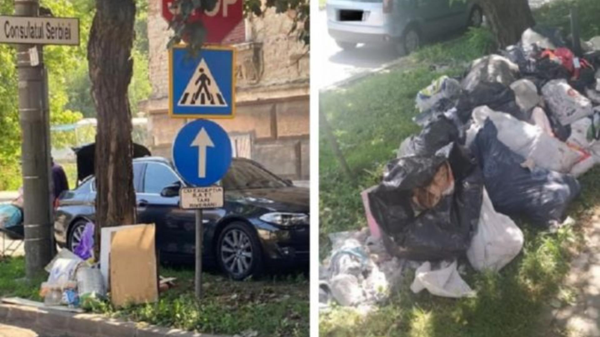 Șoferul unui bolid de lux, prins că aruncă gunoi pe stradă