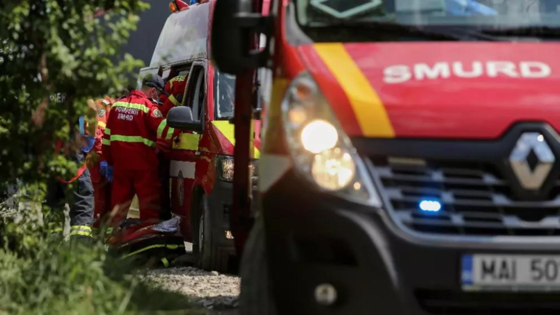 Incendiu Popești Leordeni. Foto: Inquam / Sabin Cîrstoveanu