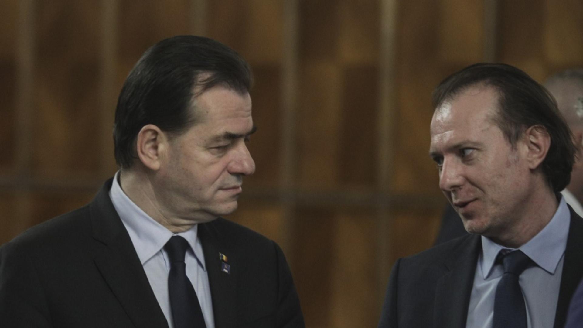 Florin Cîțu și Ludovic Orban, PNL Foto: INQUAM